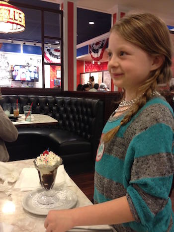 Celebrating Caley's 9th Birthday at Farrell's