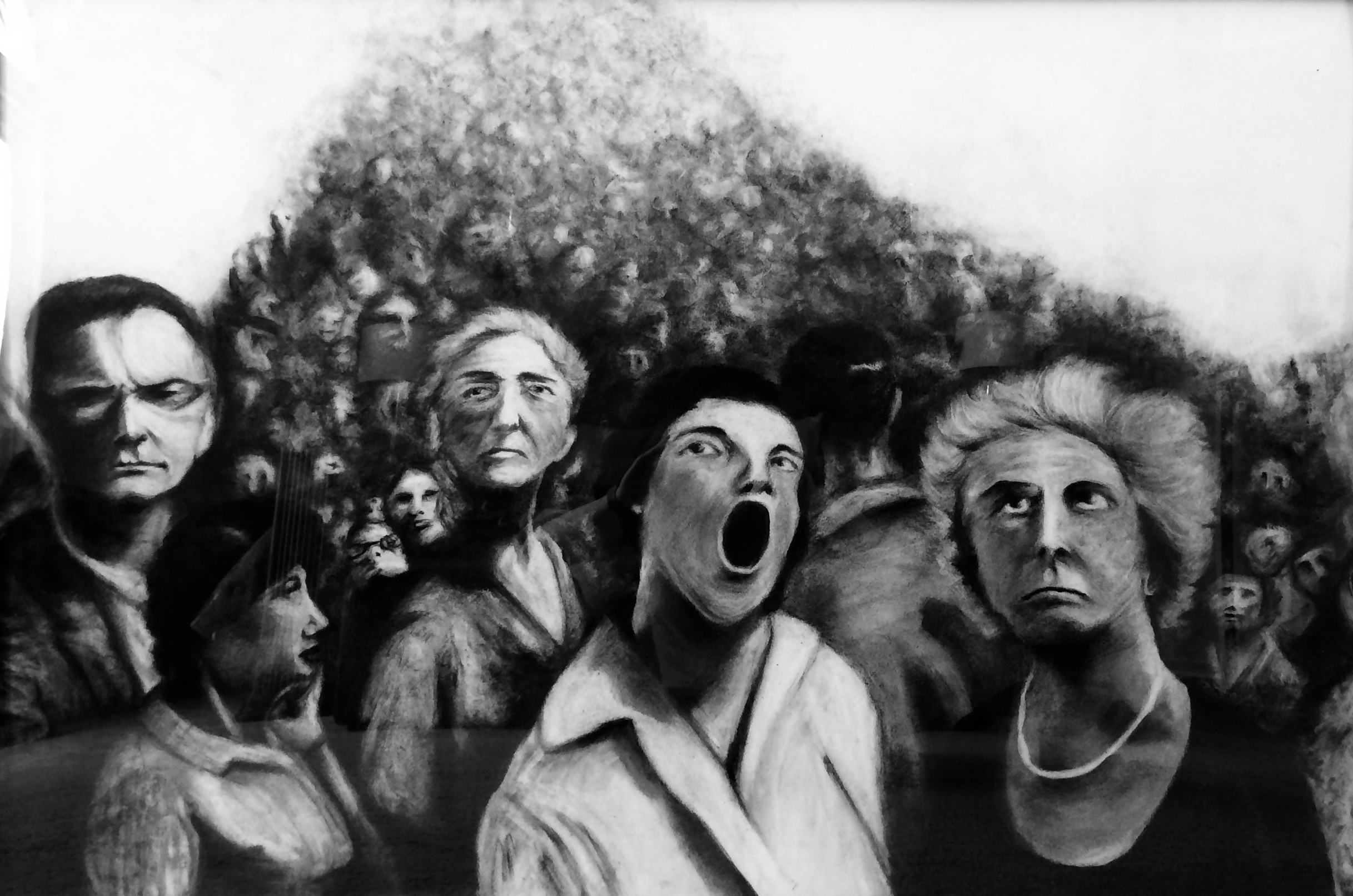 The Value of Skepticism (2012) 3' x 4' charcoal on paper