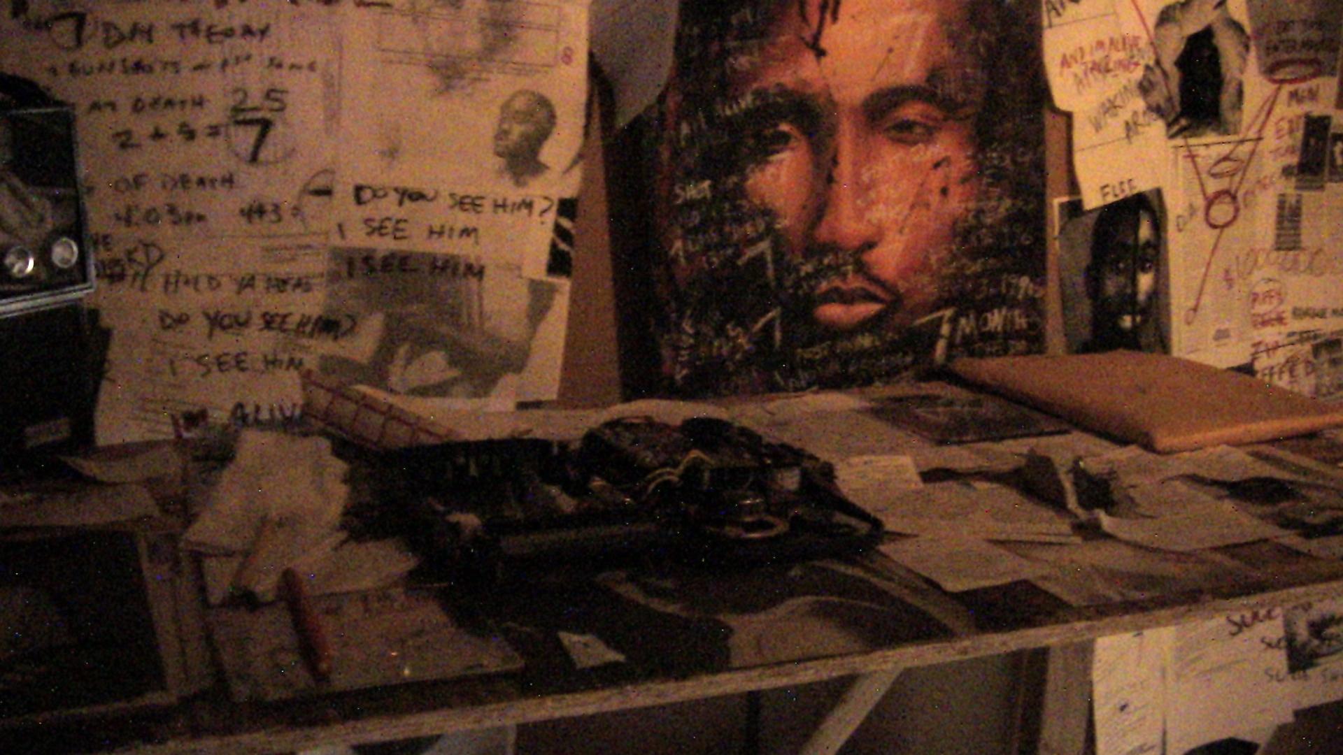 still from  2pacalypse Now , Santino Gonzales, installation (2012)
