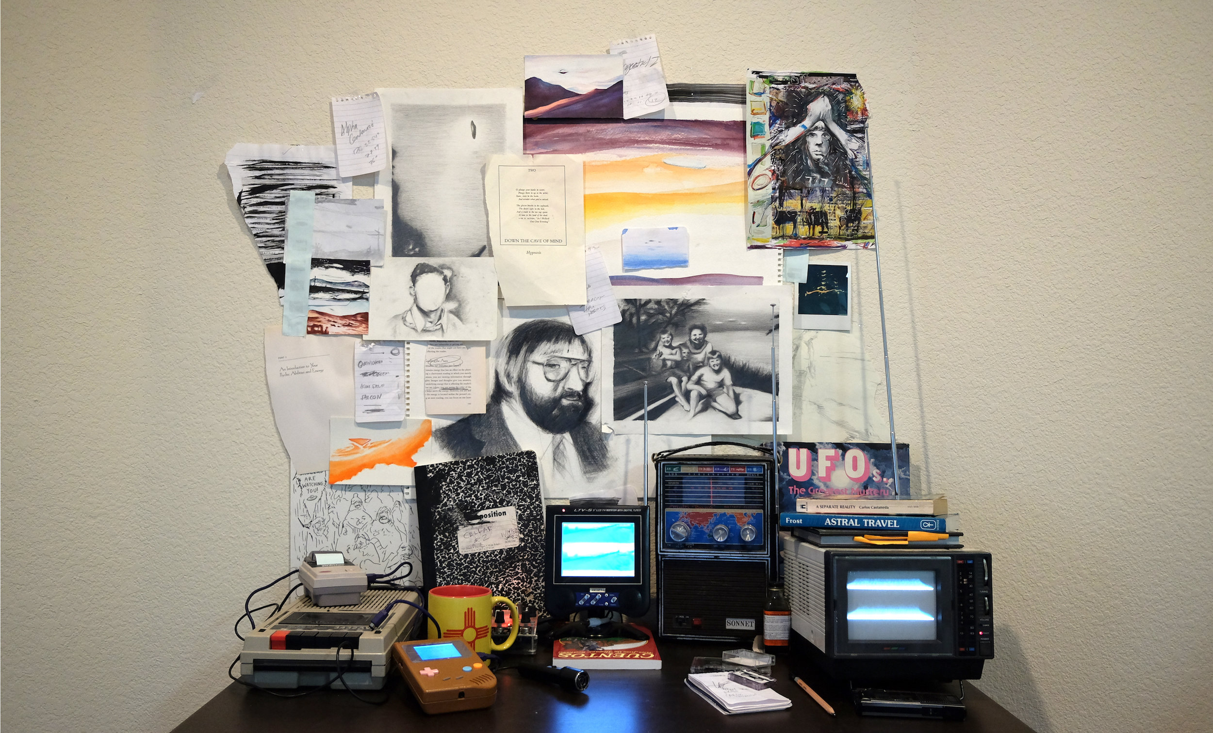 1. faded discs (installation - painting, drawing, audio, video, and objects).jpg