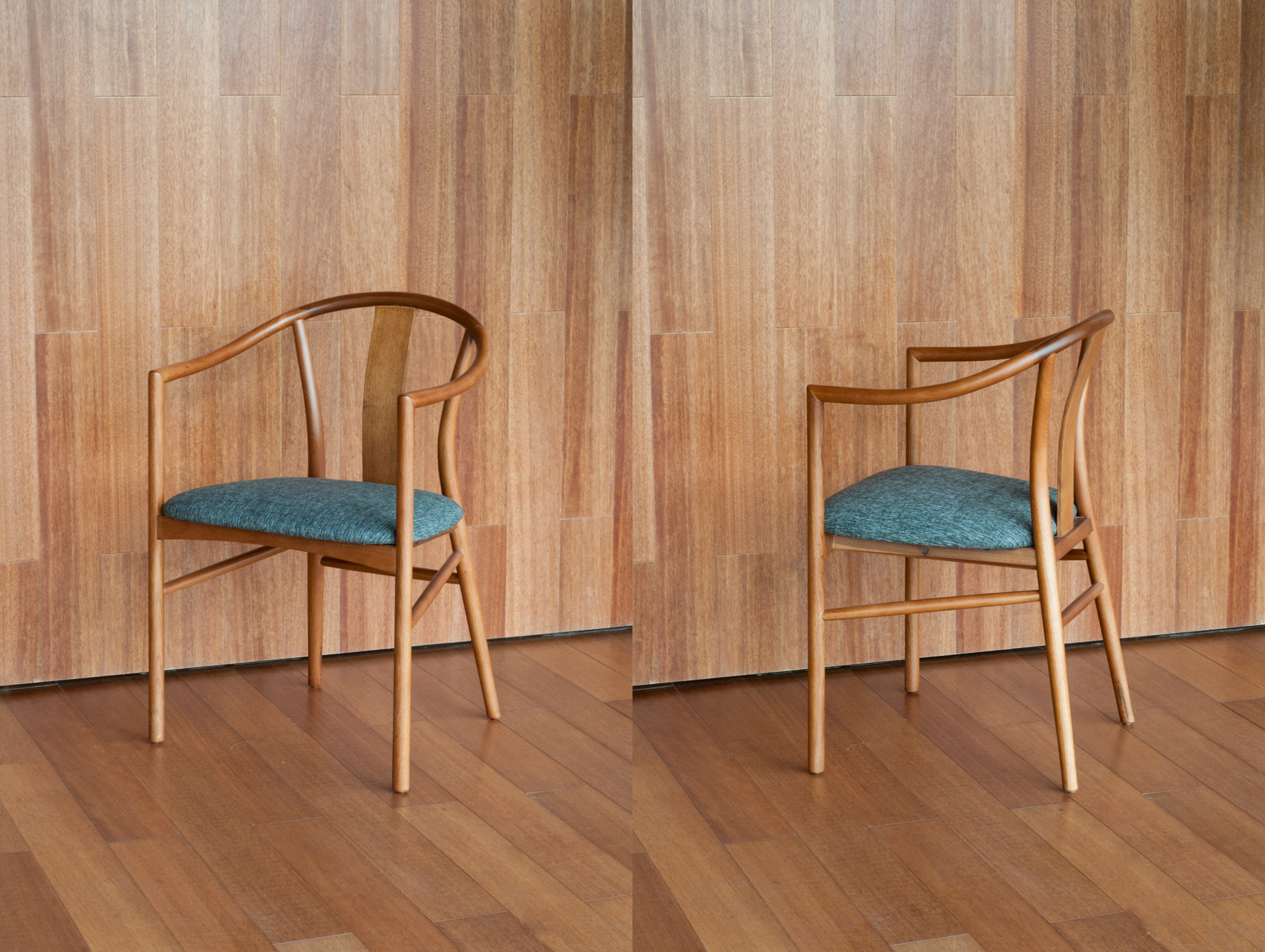 The chairs were designed for the project with the intention of merging a Chinese traditions and language with Nordic lightness and functionality.