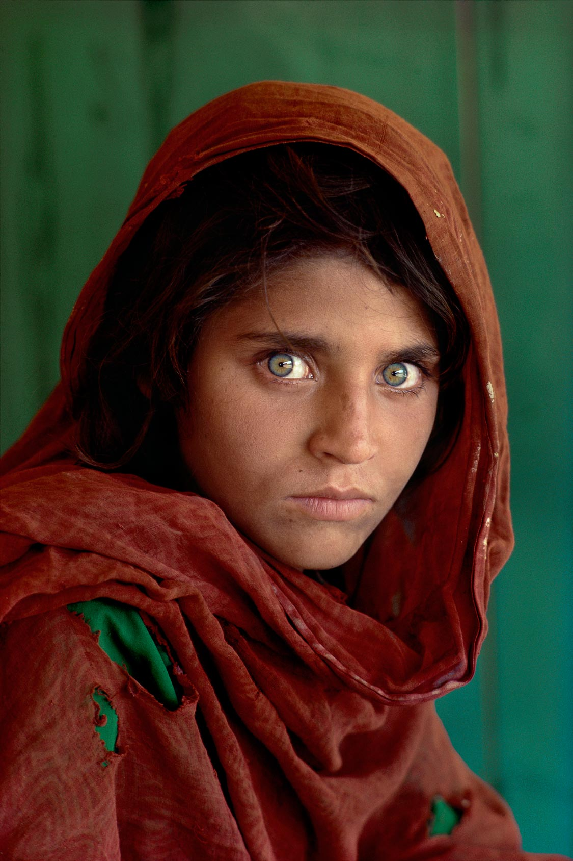 Sharbat Gula, photographed by Steve MCCurry in 1984 at the age of 12    ©Steve McCurry / National Geographic