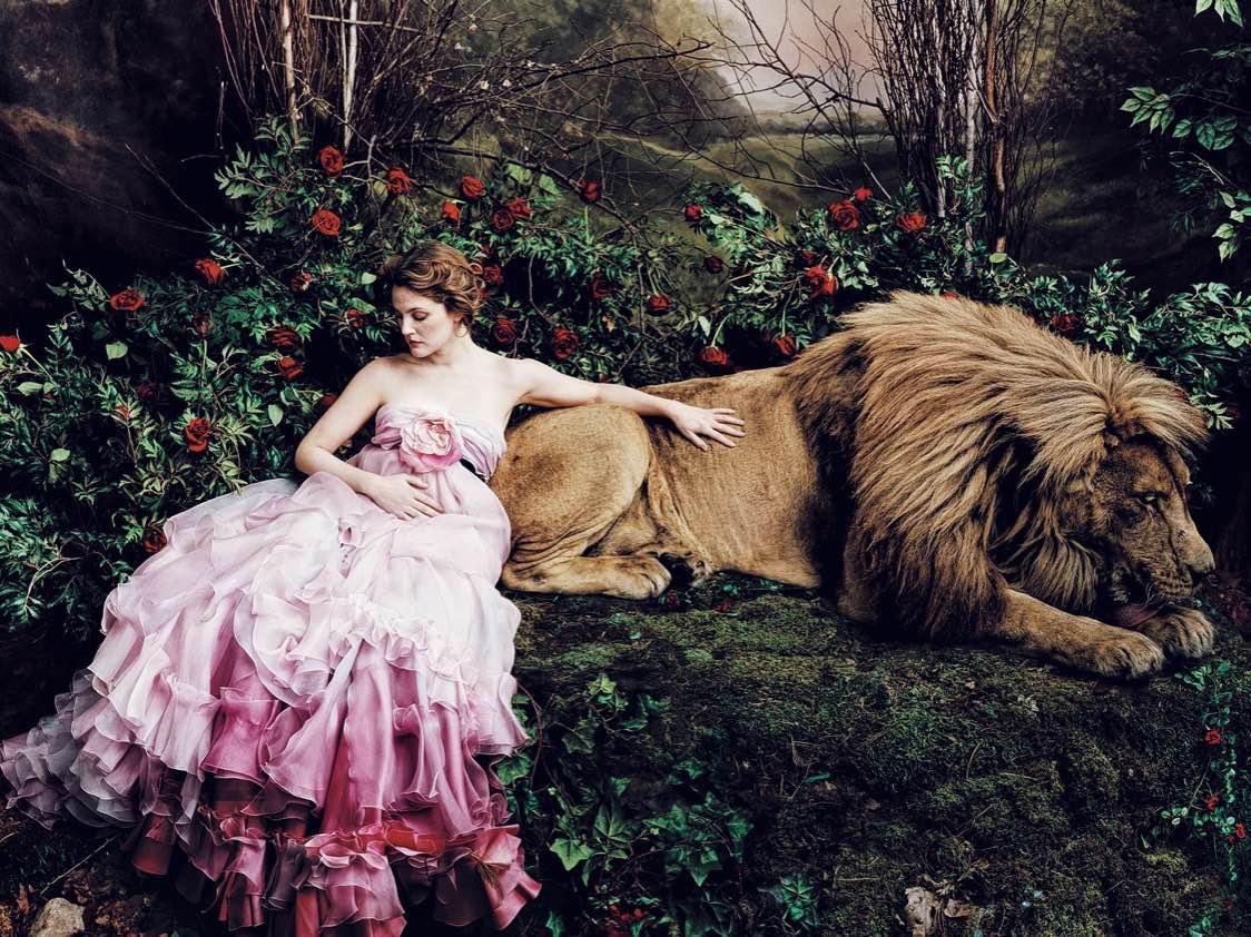 Drew Barrymore by Annie Leivobitz for Vogue (US)