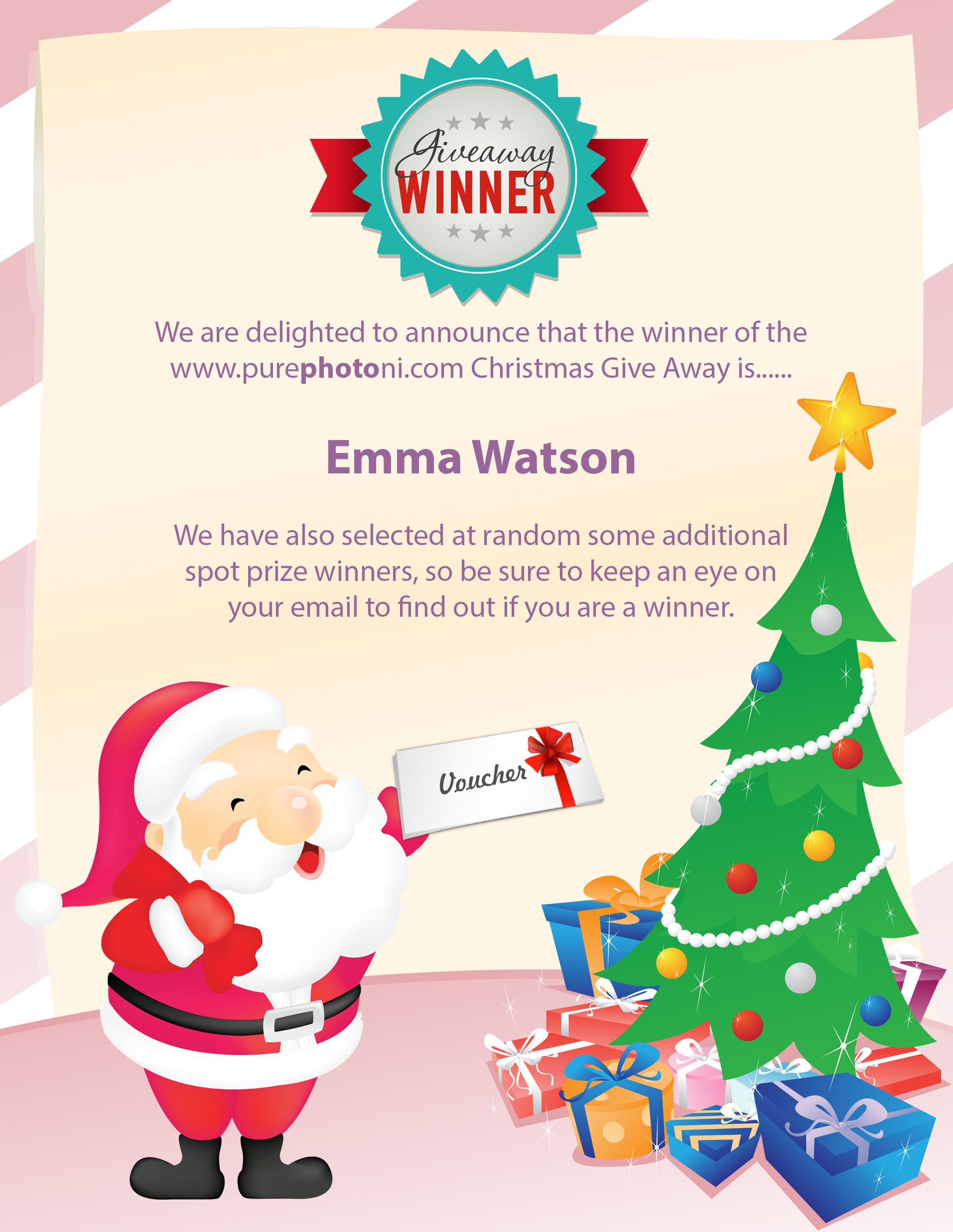 Congratulations to our winner Emma Watson.