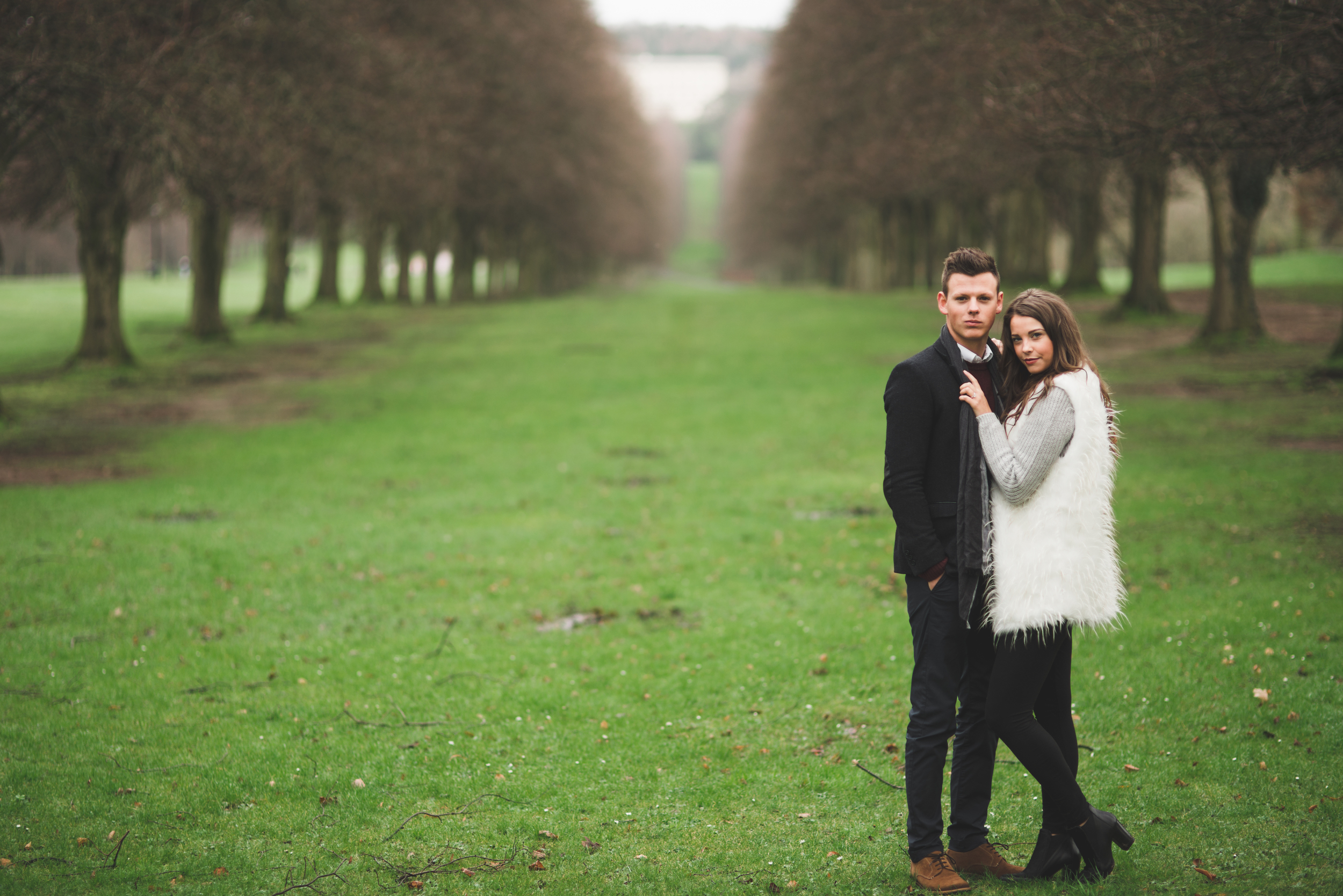 Hollie & James braved the chilly Belfast weather for theshoot. Click on the image to enlarge.