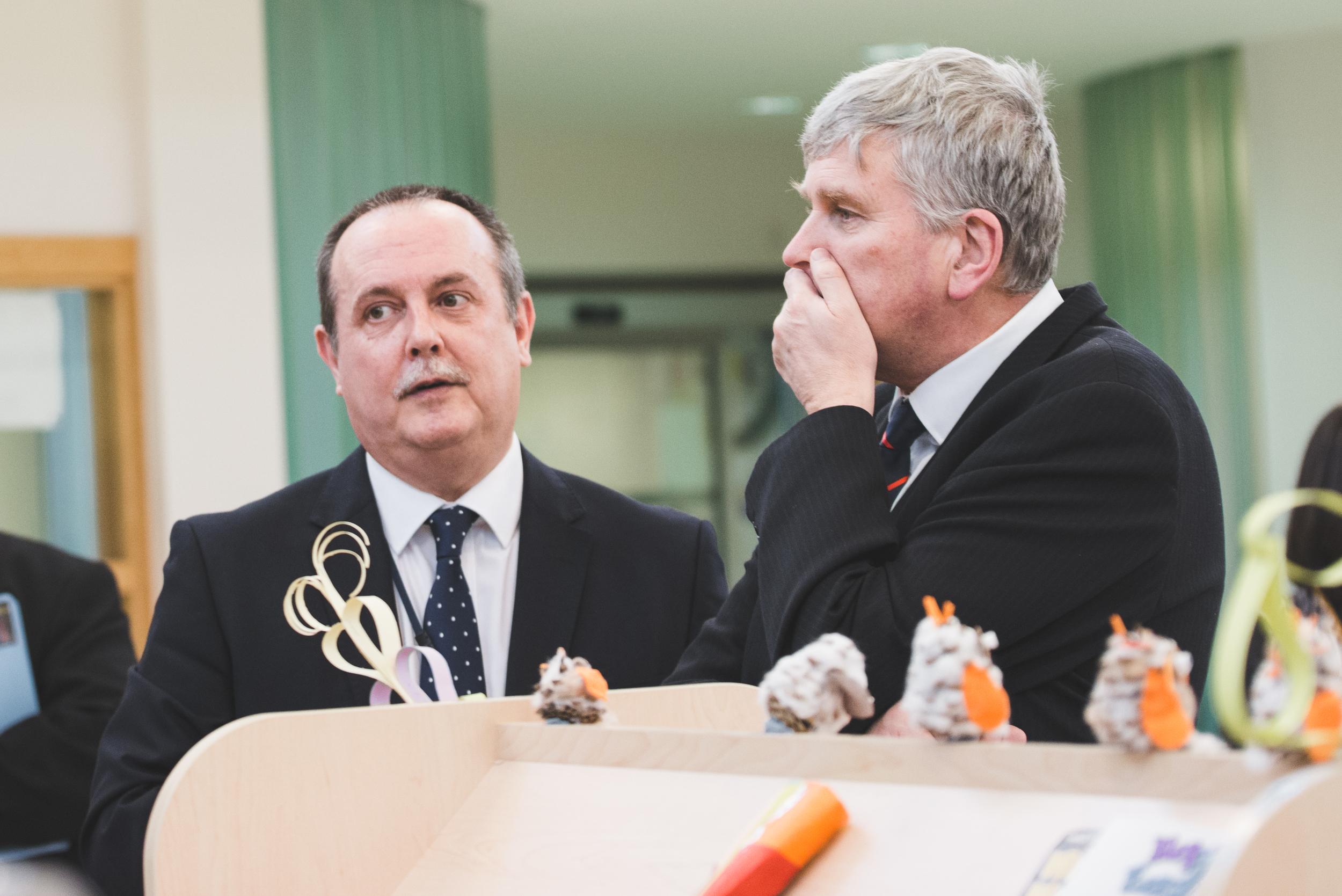 Raphael Kearns of the Lisburn Assessment & Resource Centre andHealth Minister Jim Wells