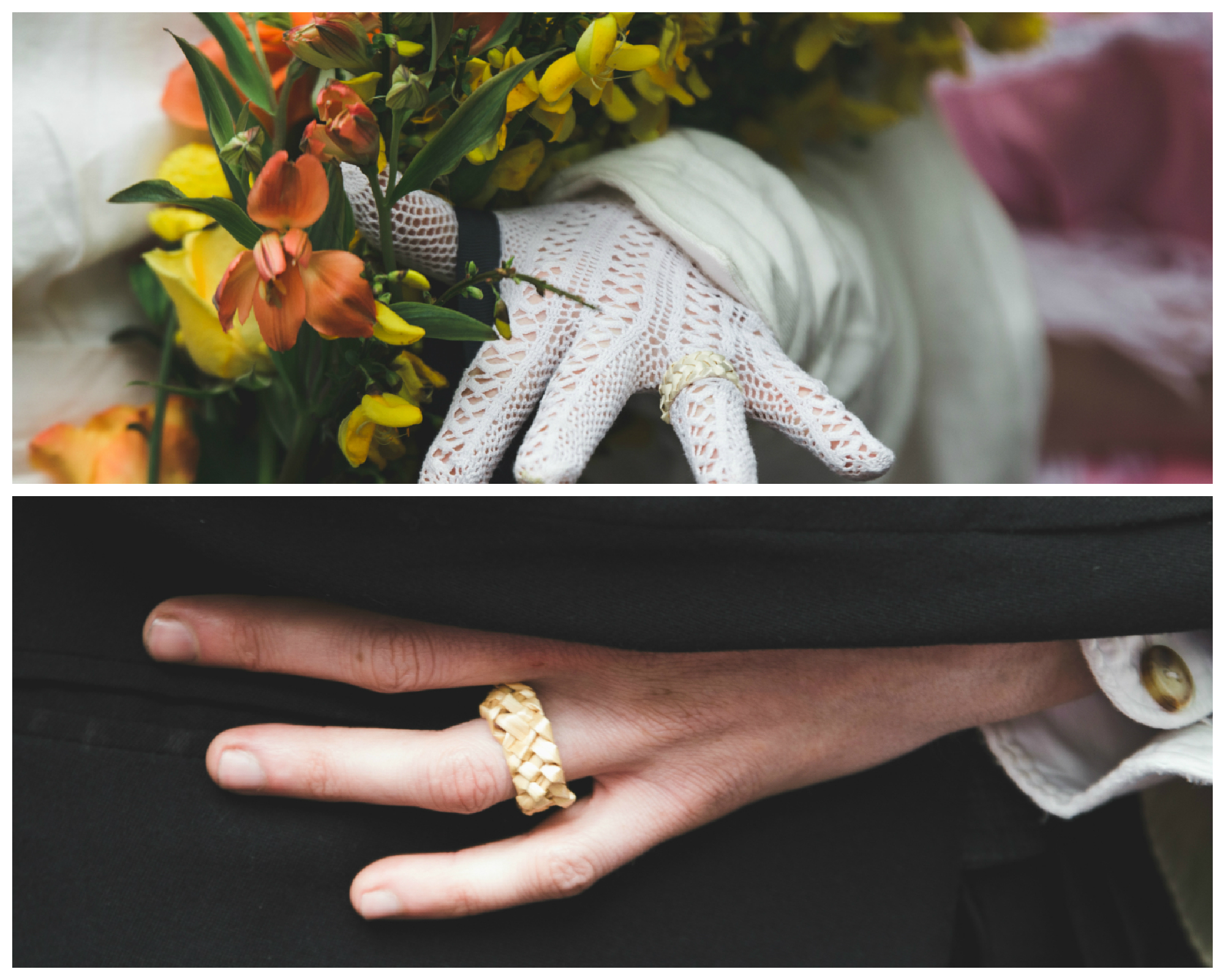 Wedding Rings made from Straw