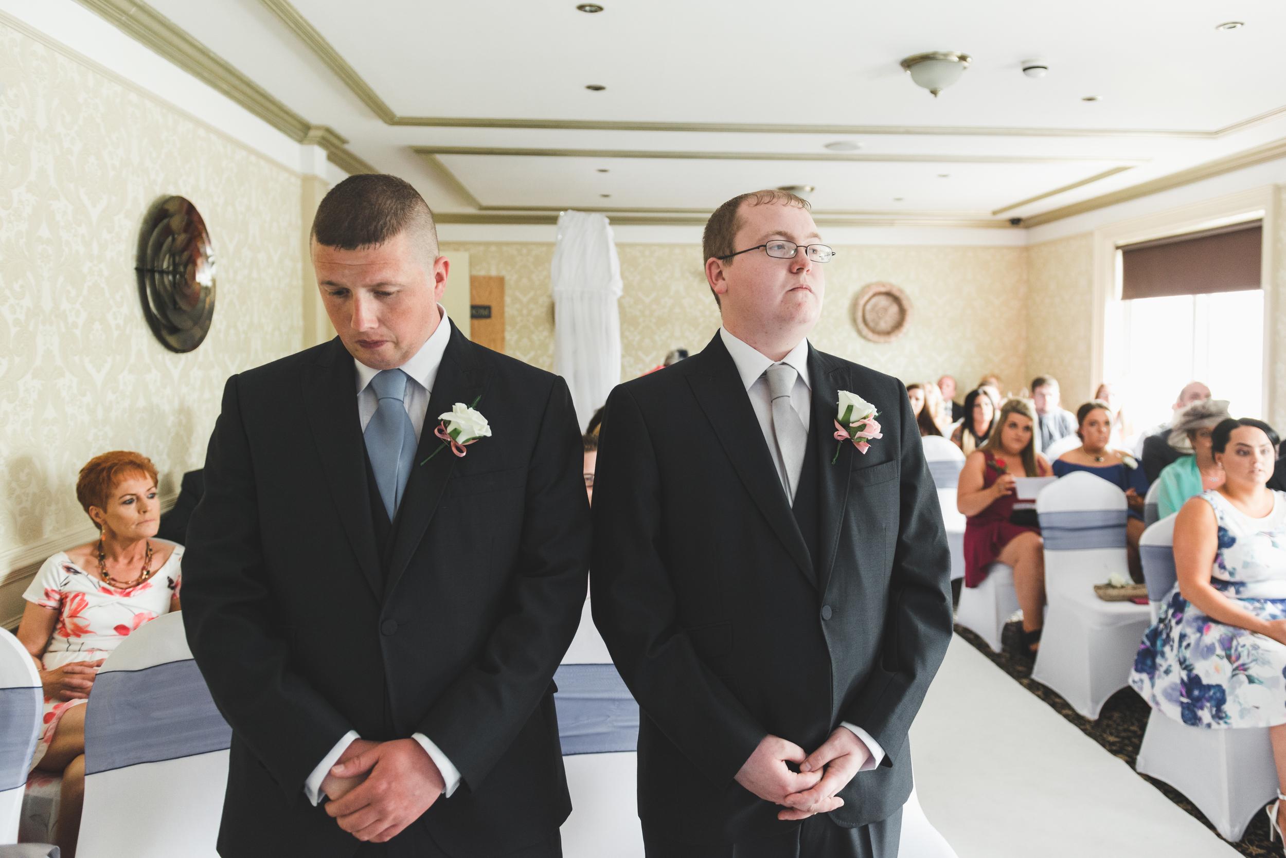 Ballymac_hotel_wedding_lisburn_groom_bestman_waiting