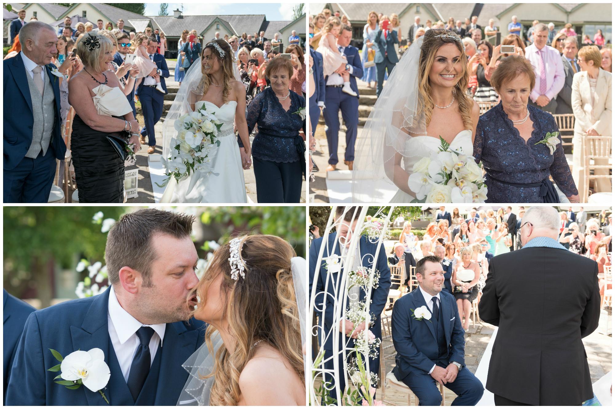 Lusty Beg Island Northern Ireland Wedding Photographers Pure Photo N.I Bride Groom Aisle