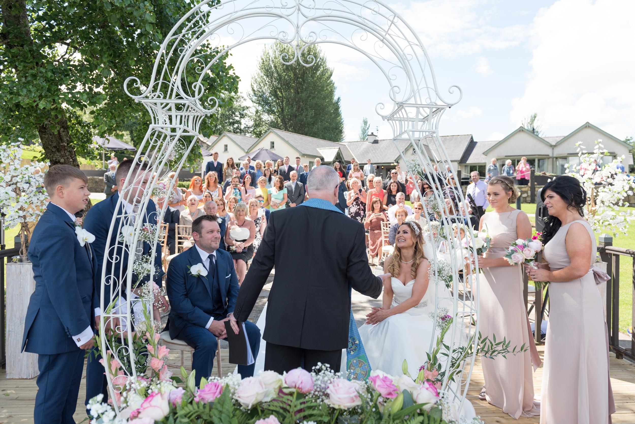 Lusty Beg Island Northern Ireland Wedding Photographers Pure Photo N.I Bride Groom Ceremony