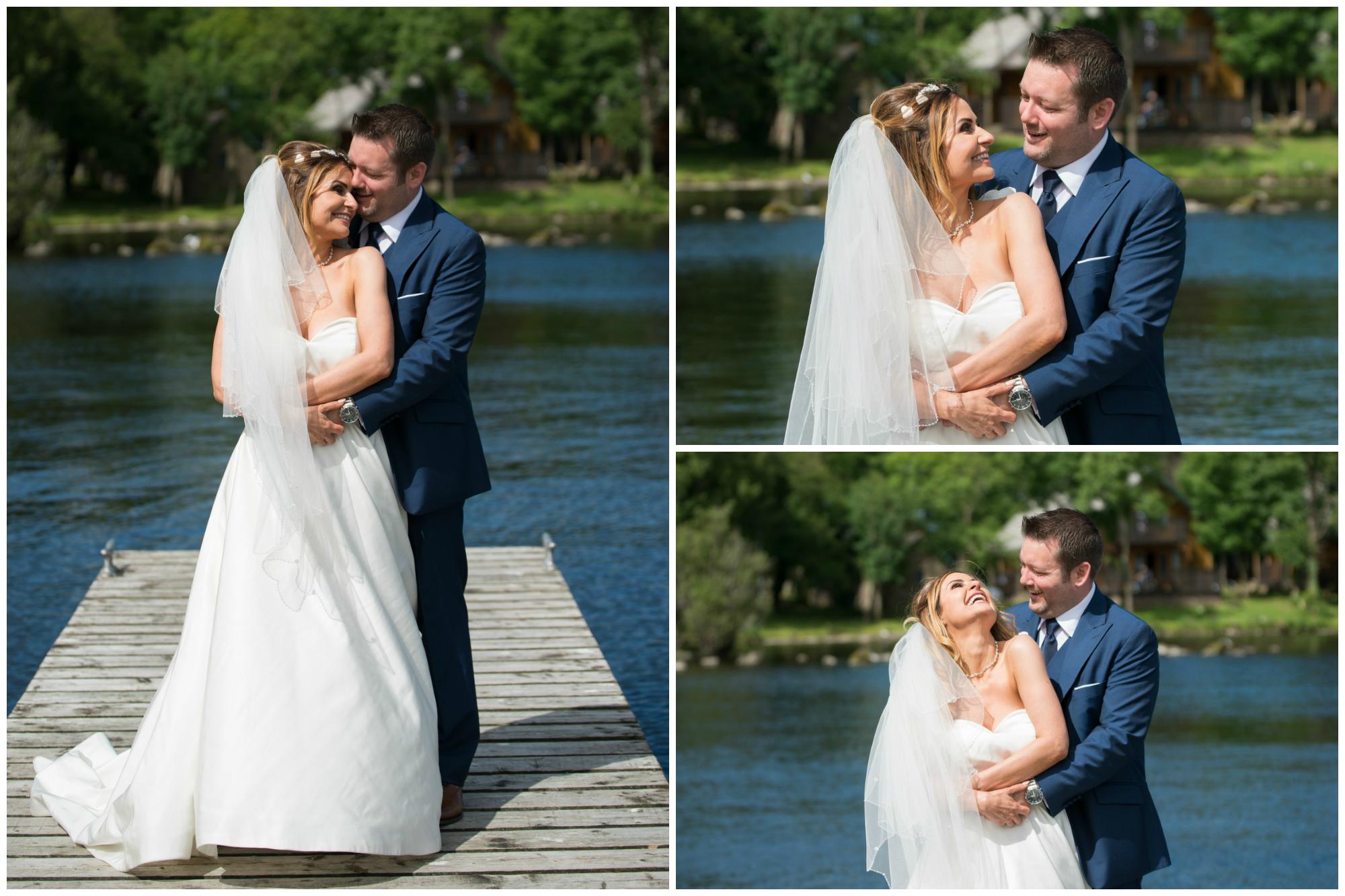 Lusty Beg Island Northern Ireland Wedding Photographers Pure Photo Bride and Groom fun portraits