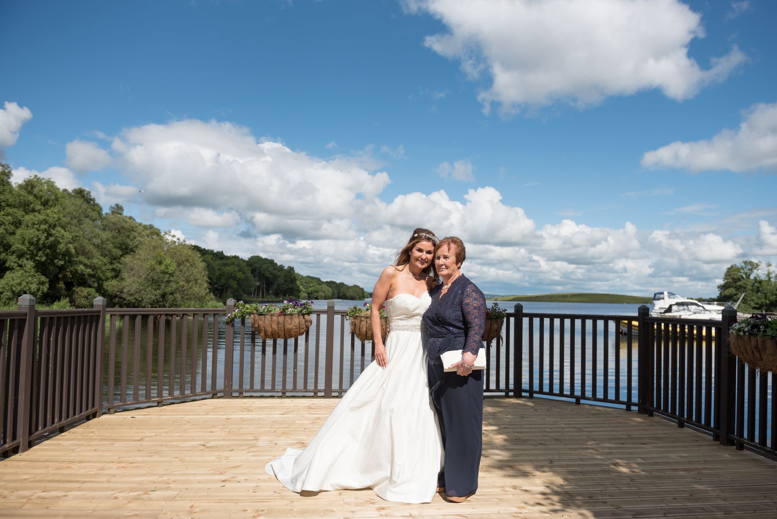 Lusty Beg Island Northern Ireland Wedding Photographers Pure Photo Bride and mum