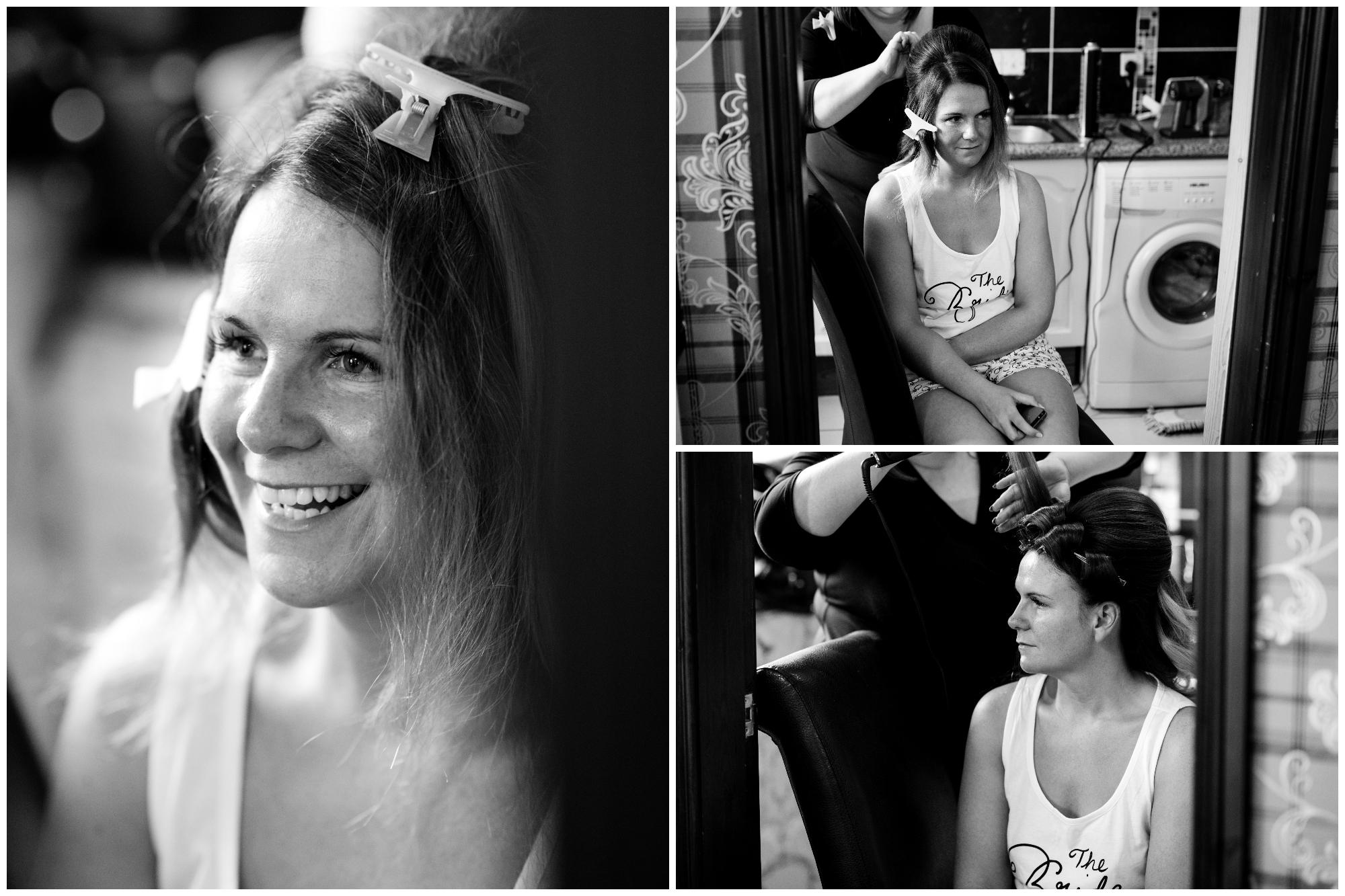 Belfast Wedding Photographer purephotoni Ramada Plaza Bride Hair