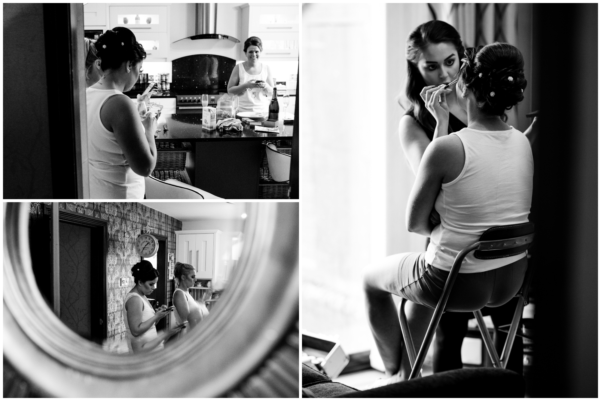 Belfast Wedding Photographer purephotoni Ramada Plaza Bridesmaids getting ready