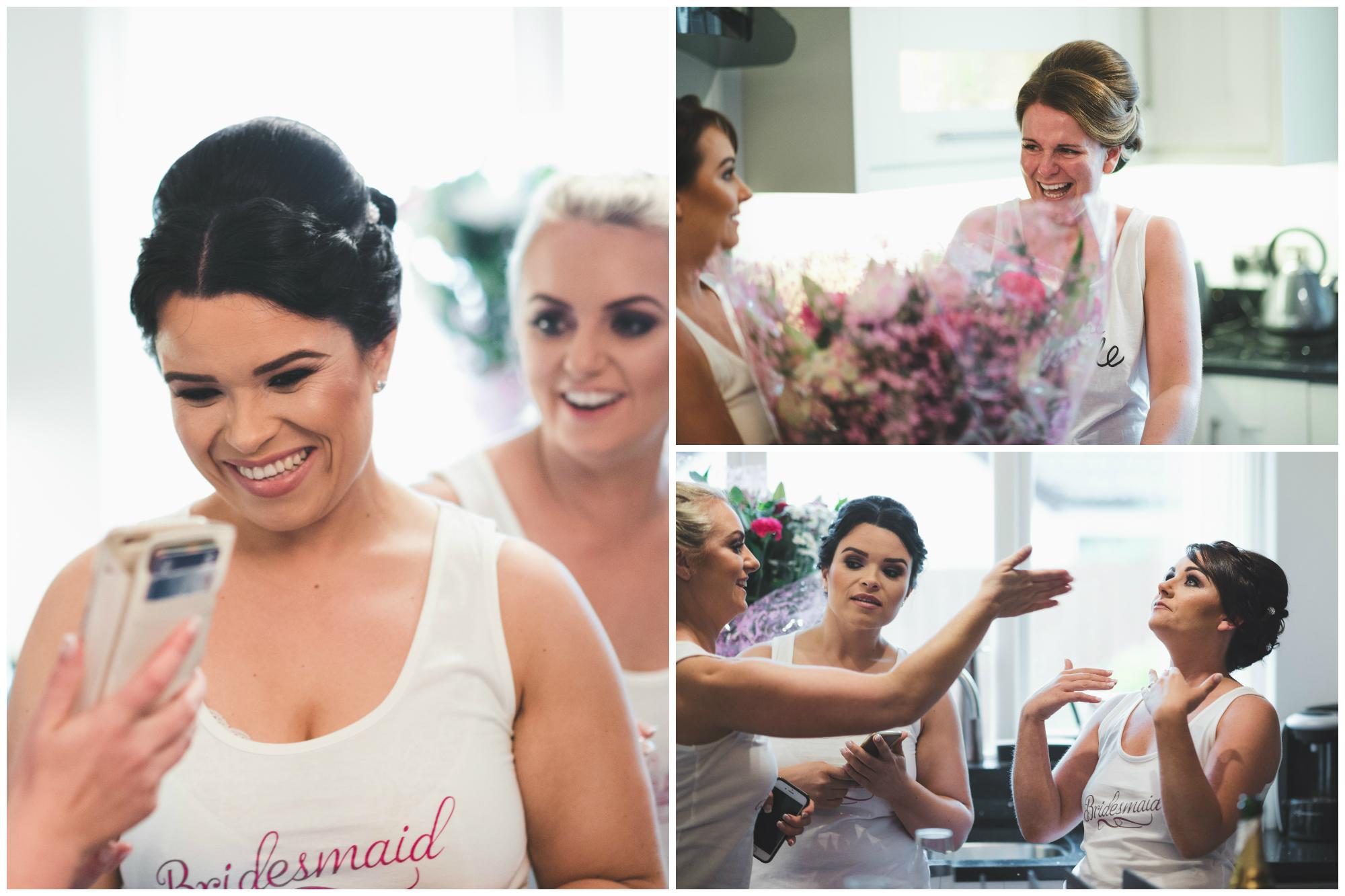 Belfast Wedding Photographer purephotoni Ramada Plaza Bridesmaids tears