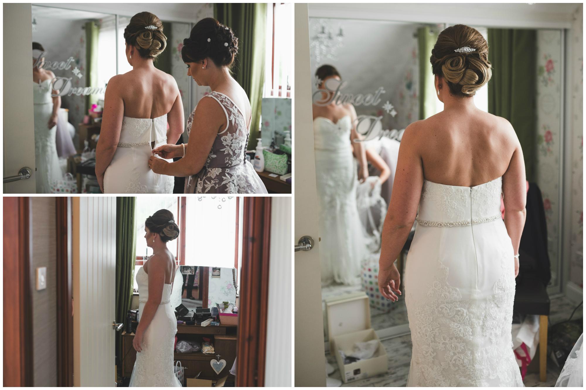 Belfast Wedding Photographer purephotoni Ramada Plaza Bride wedding gown