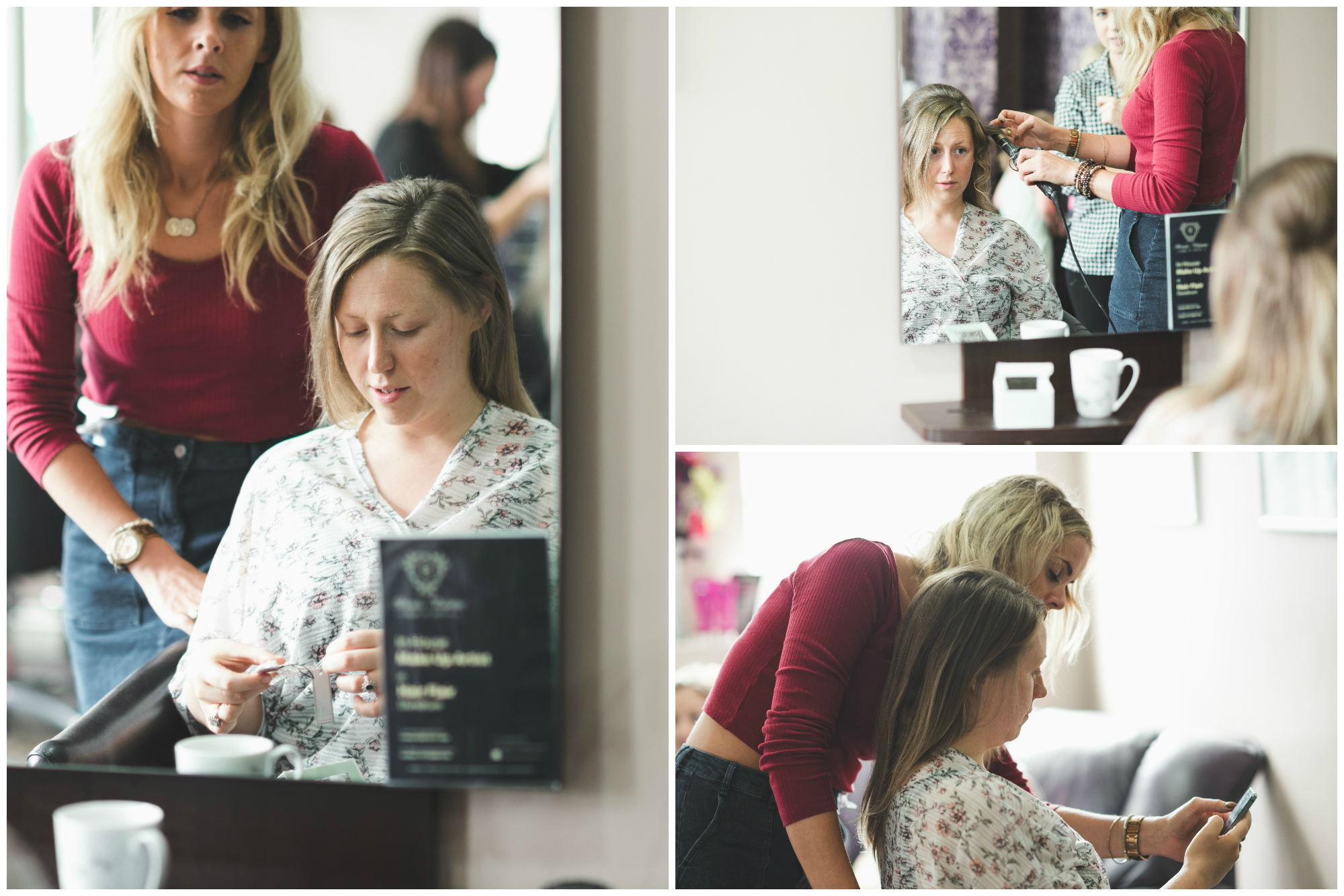 Canal Court Hotel Wedding photographer Pure Photo N.I Hair Styling Bride