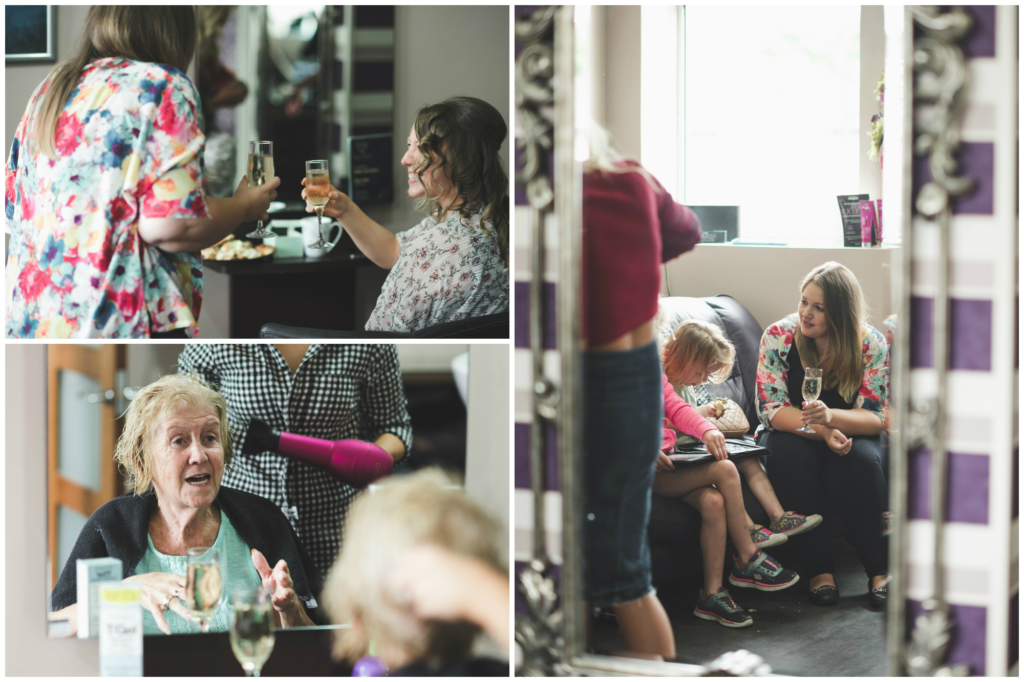 Canal Court Hotel Newry Wedding photographer Pure Photo N.I getting ready salon champagne