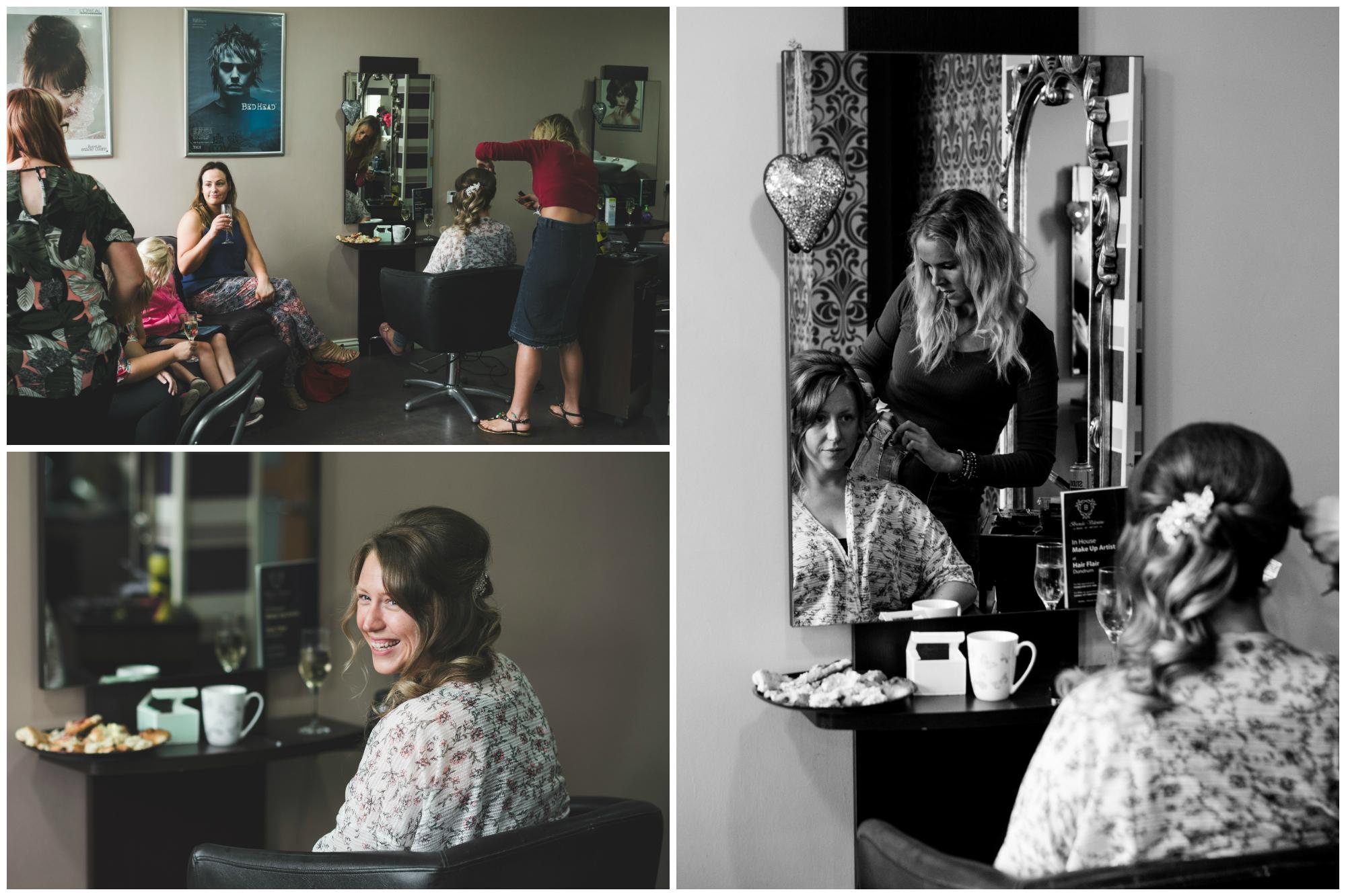 Canal Court Hotel Newry Wedding photographer Pure Photo N.I getting ready salon hair