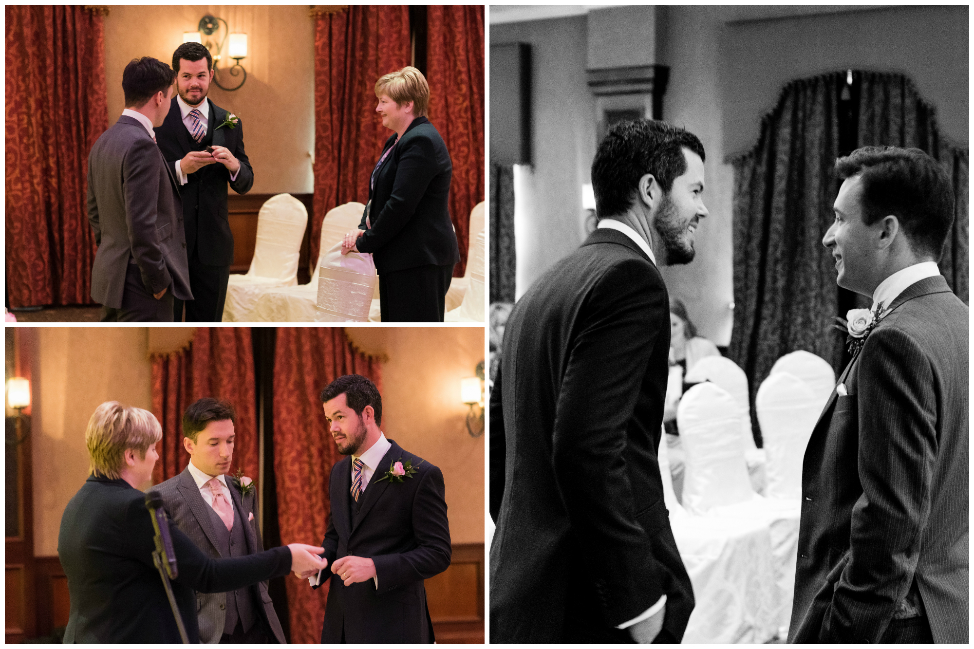 Canal Court Hotel Newry Wedding photographer Pure Photo N.I ceremony groom best man