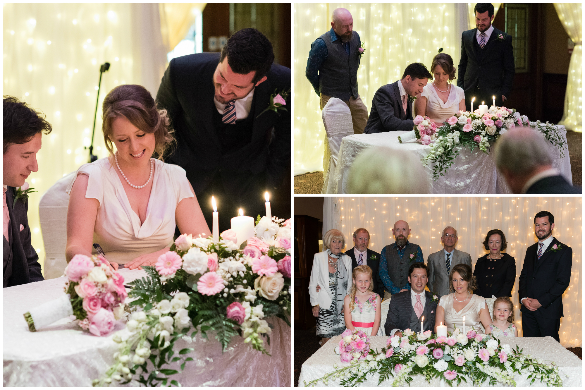 Canal Court Hotel Newry Wedding photographer Pure Photo N.I ceremony signing