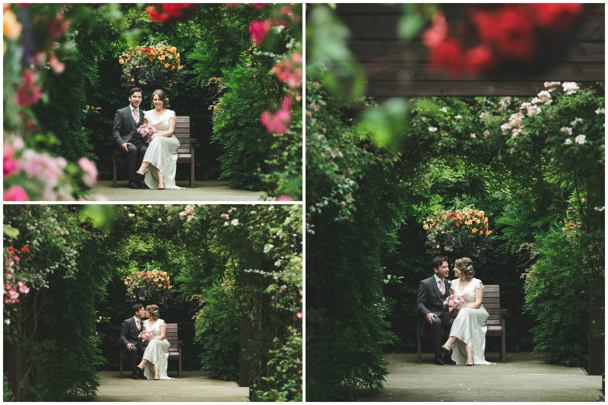 Canal Court Hotel Newry Wedding photographer Pure Photo N.I bride groom bench