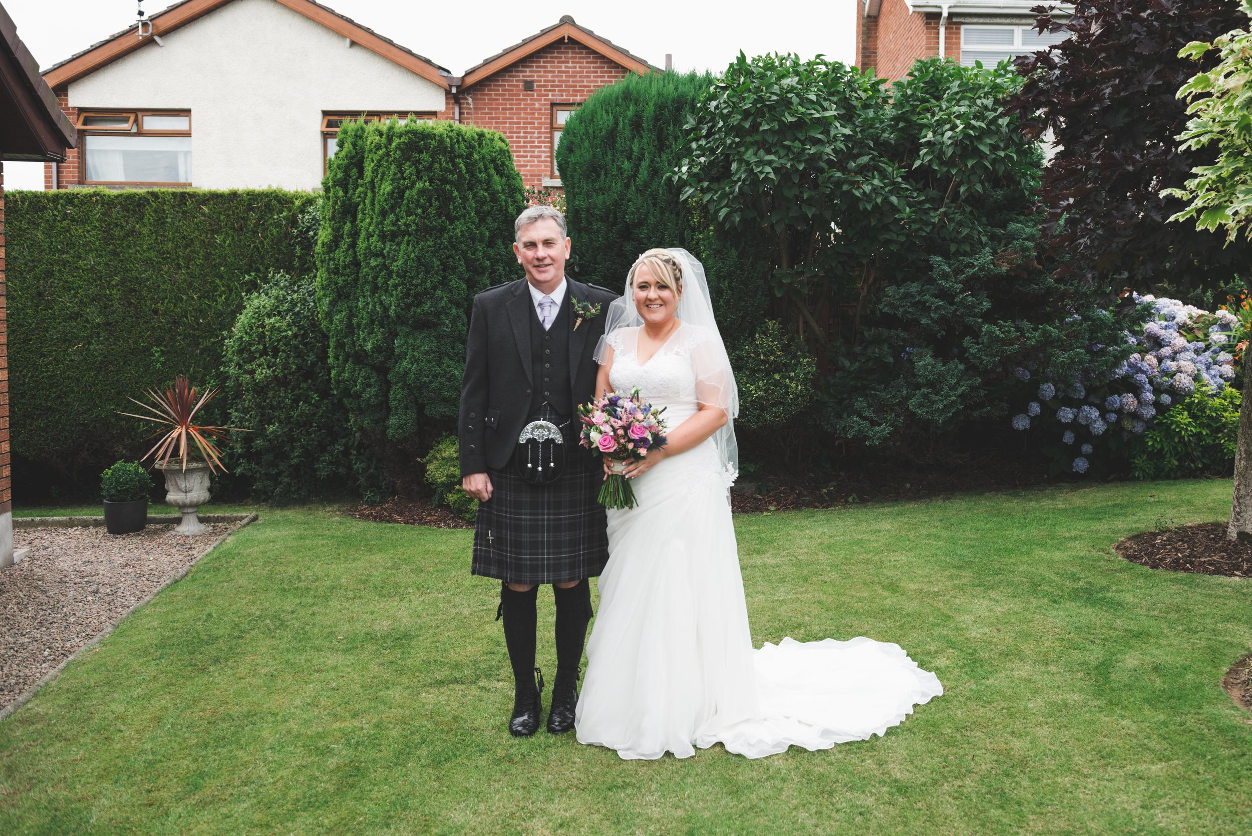 Lisburn Wedding Photographer Pure Photo N.I Magheragall Parish Church bride father of the bride