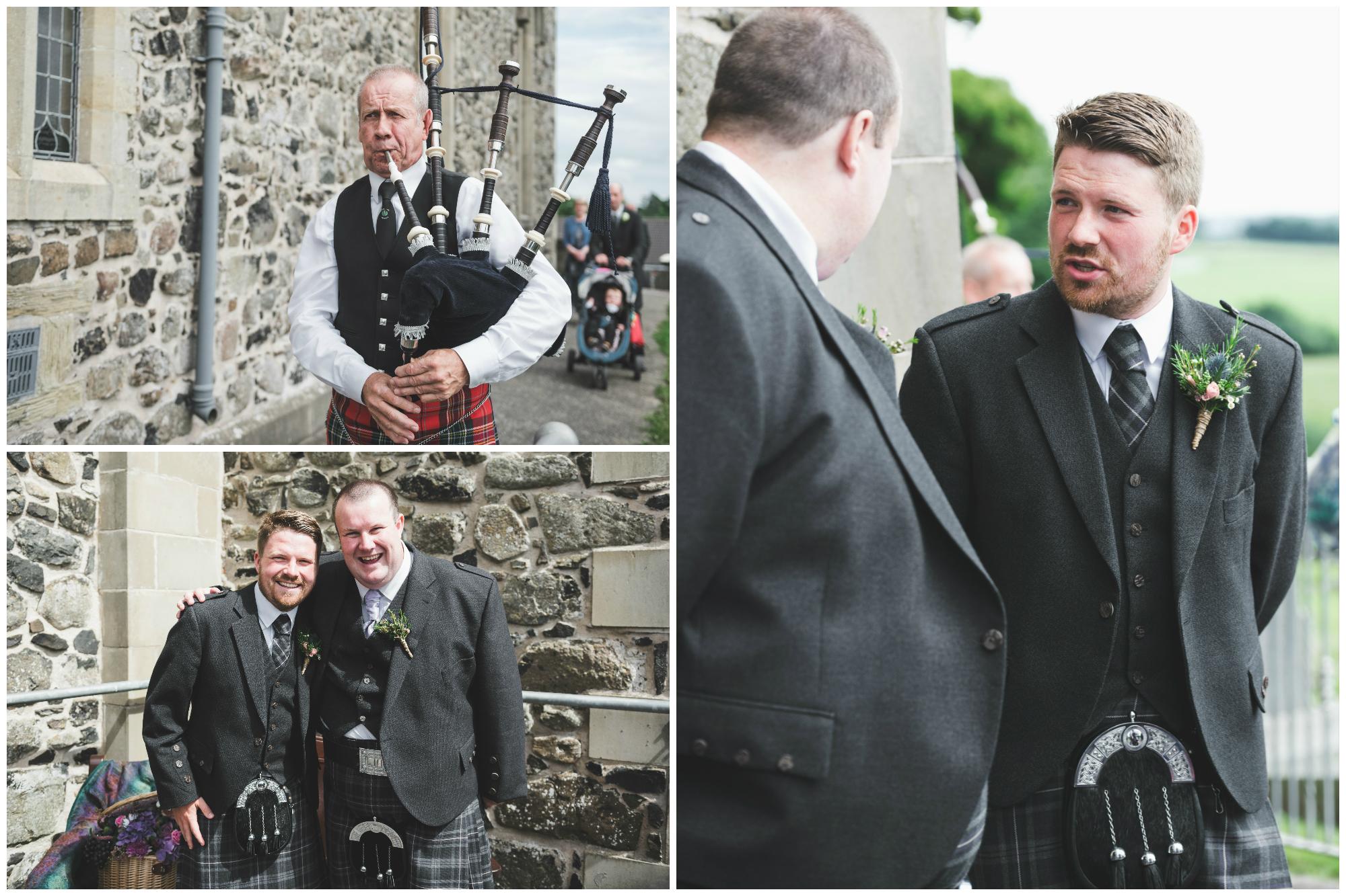 Lisburn Wedding Photographer Pure Photo N.I Magheragall Parish Church Groom and best man