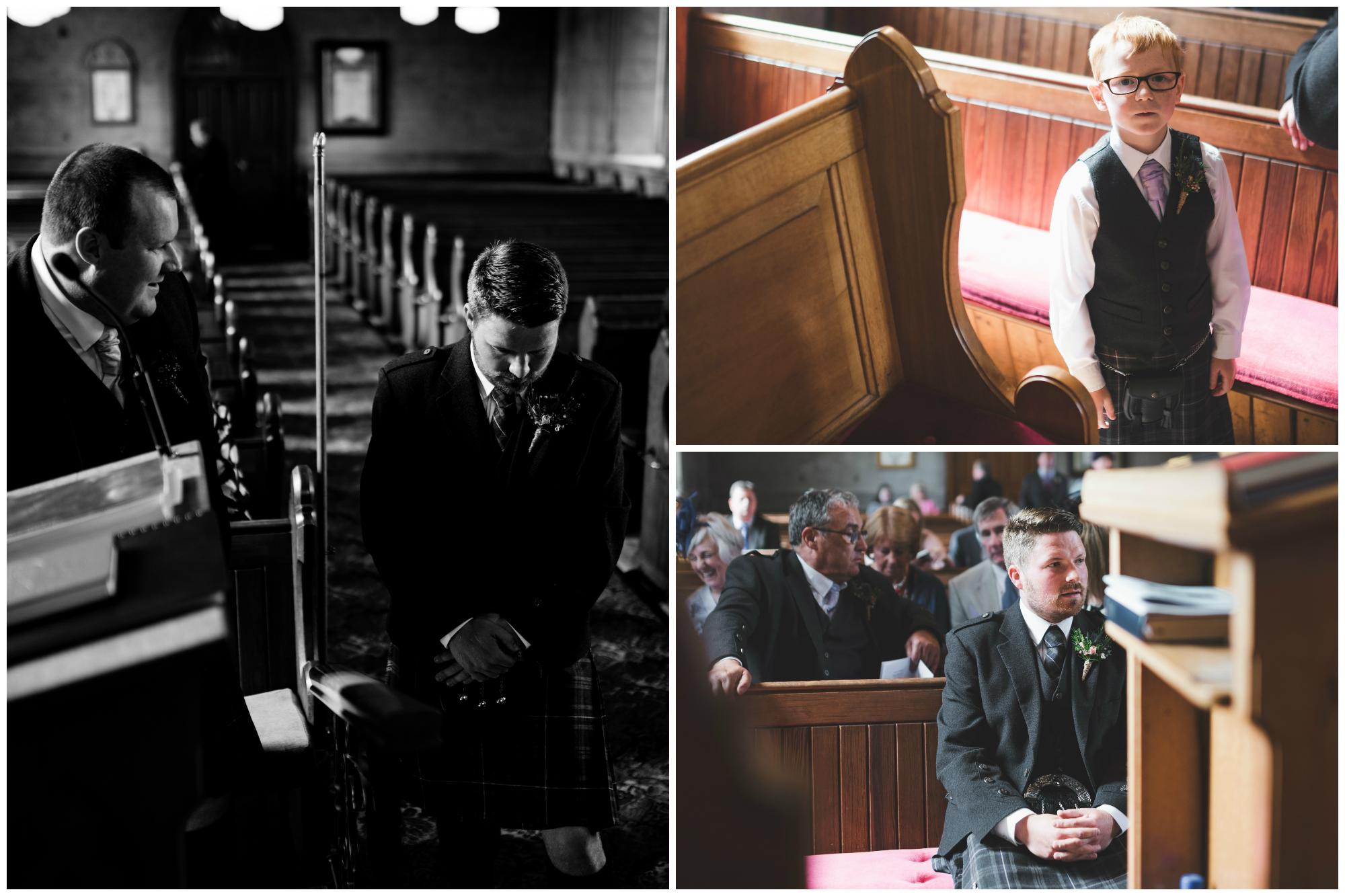 Lisburn Wedding Photographer Pure Photo N.I Magheragall Parish Church Groom best man waiting