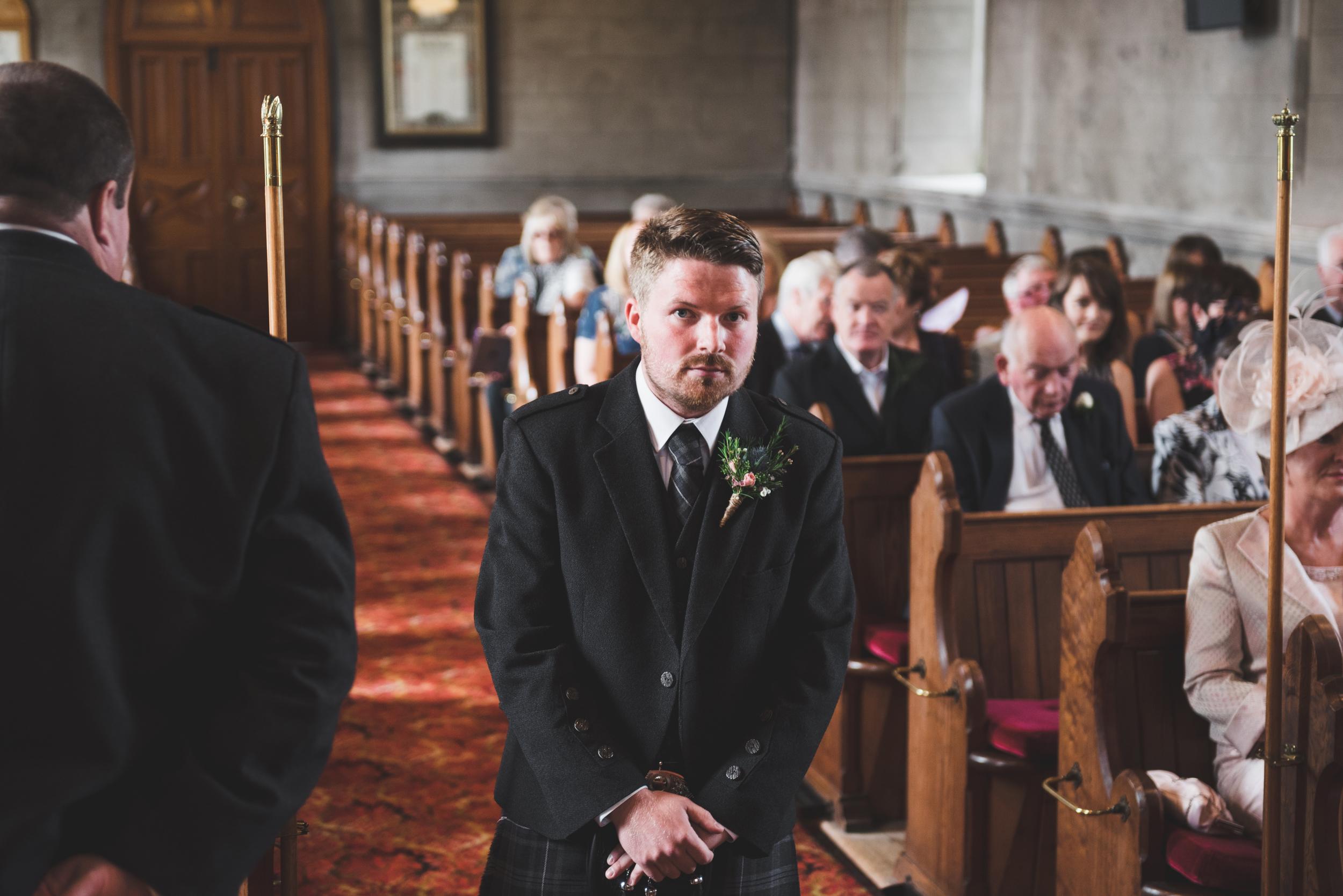 Lisburn Wedding Photographer Pure Photo N.I Magheragall Parish Church ceremony Groom
