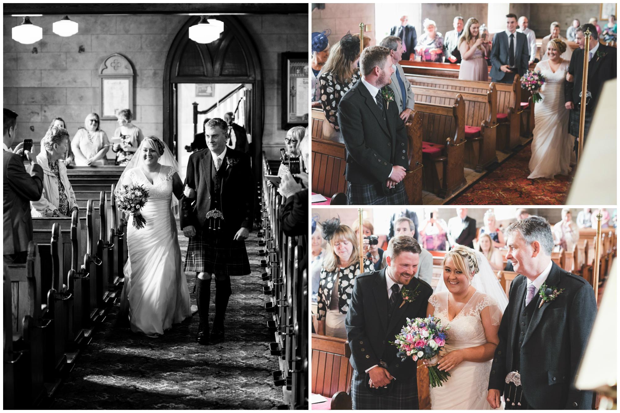 Lisburn Wedding Photographer Pure Photo N.I Magheragall Parish Church bride aisle