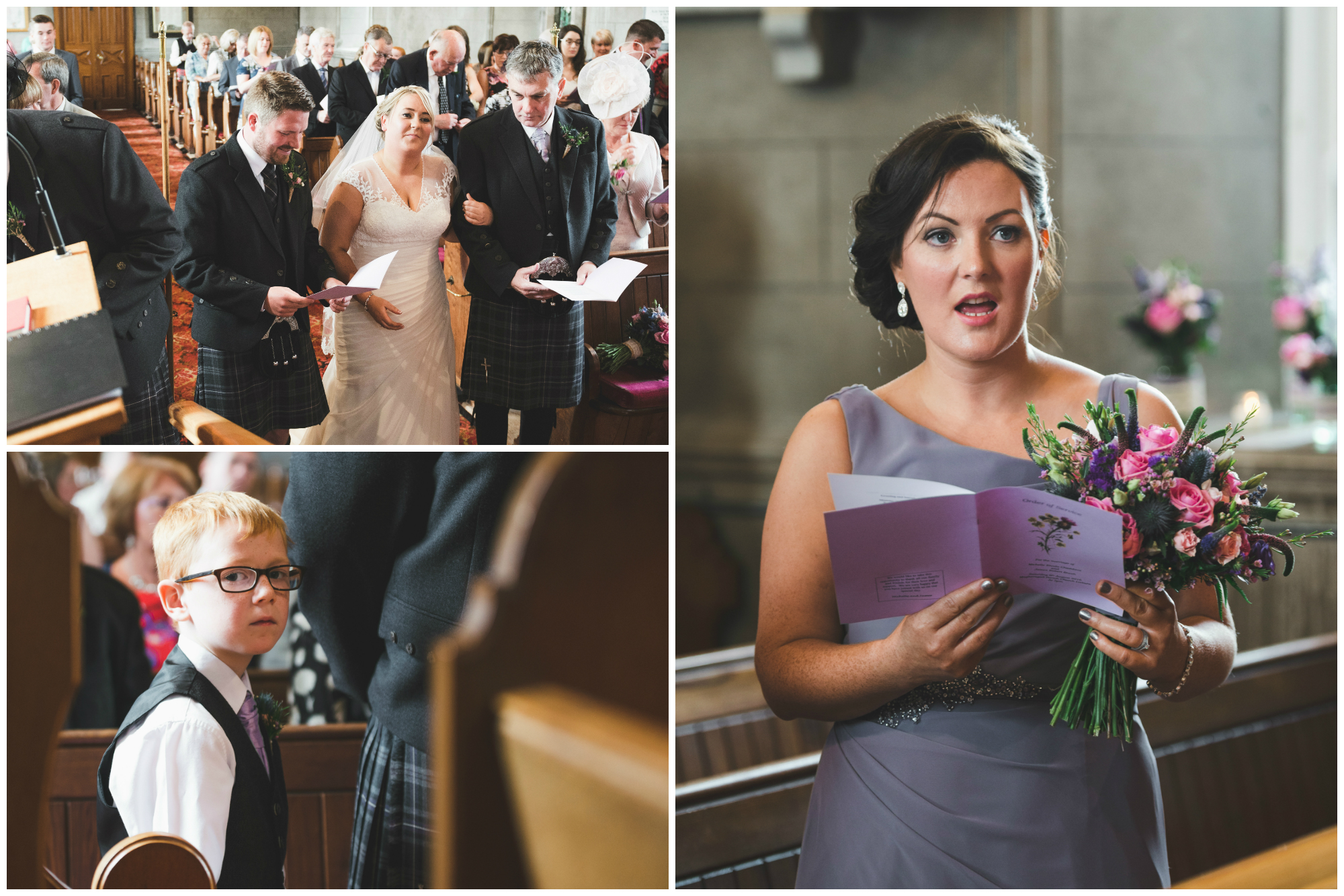 Lisburn Wedding Photographer Pure Photo N.I Magheragall Parish Church ceremony singing