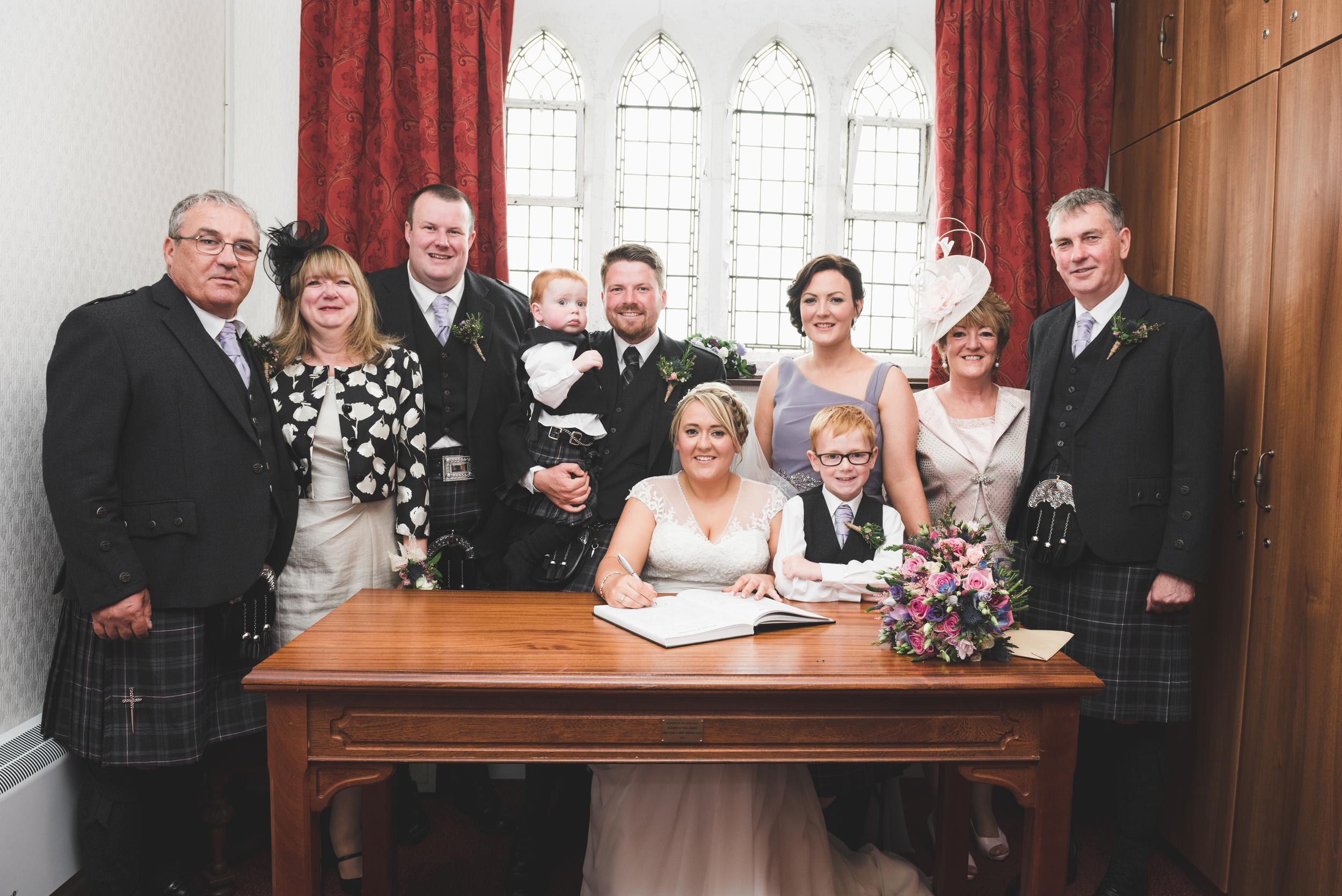 Lisburn Wedding Photographer Pure Photo N.I Magheragall Parish Church ceremony family signing