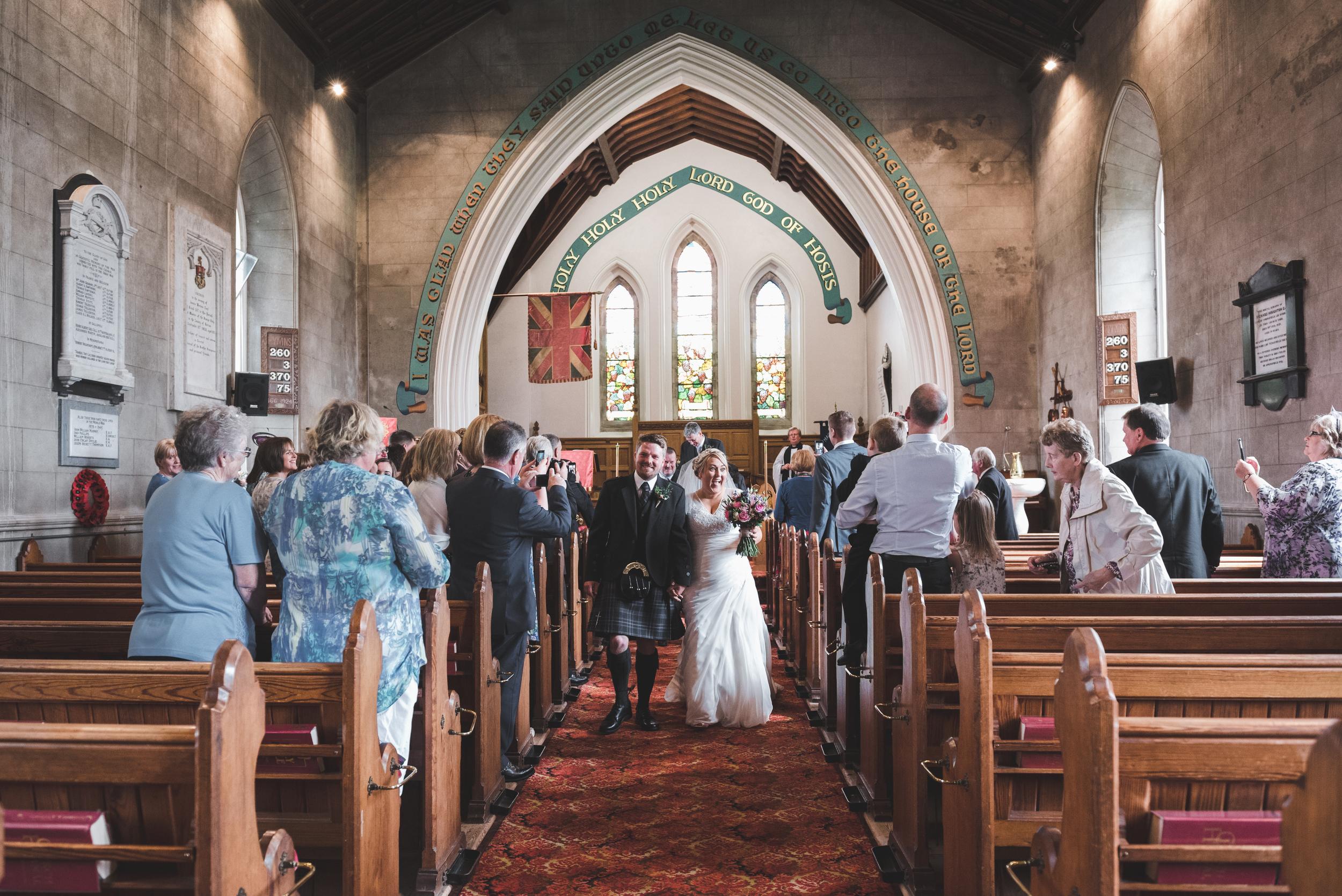 Lisburn Wedding Photographer Pure Photo N.I Magheragall Parish Church ceremony recessional