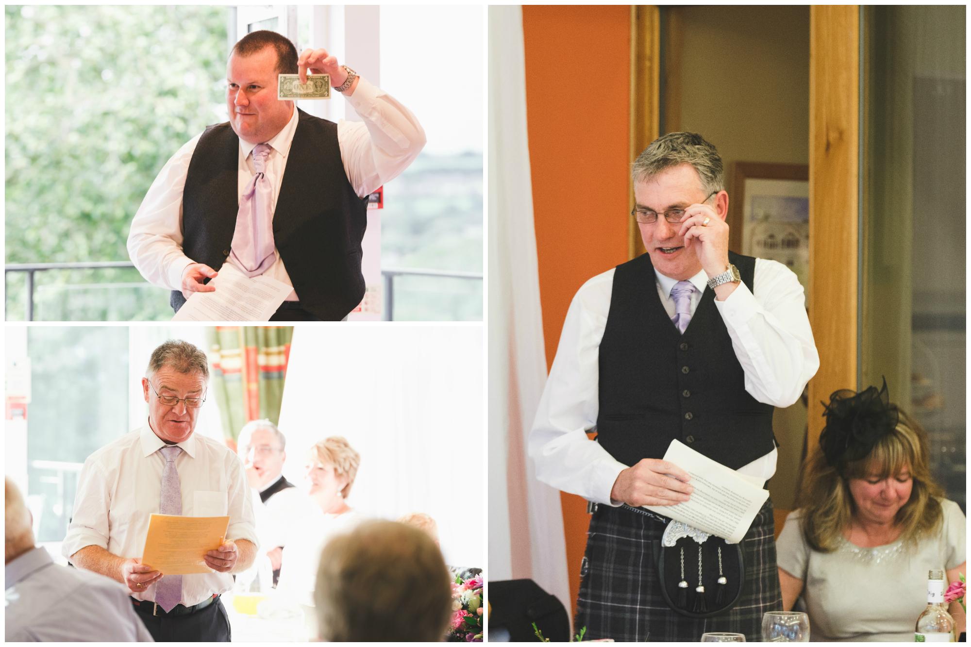 Lisburn Wedding Photographer Pure Photo N.I Edenmore Country Club speeches