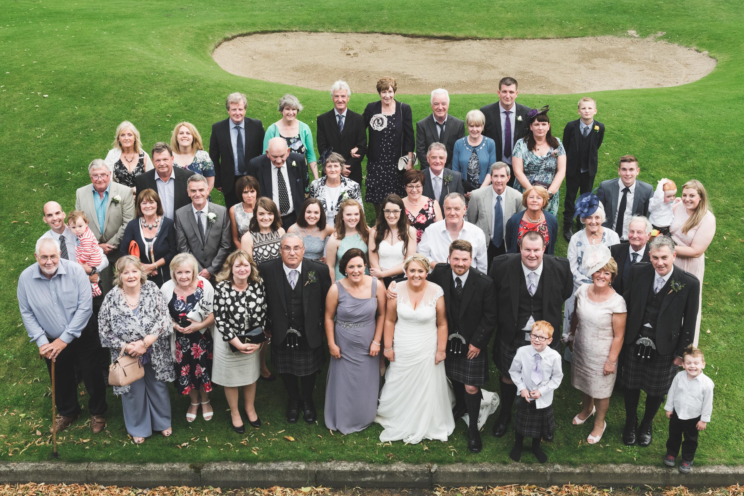 Lisburn Wedding Photographer Pure Photo N.I Edenmore Country Club group photo
