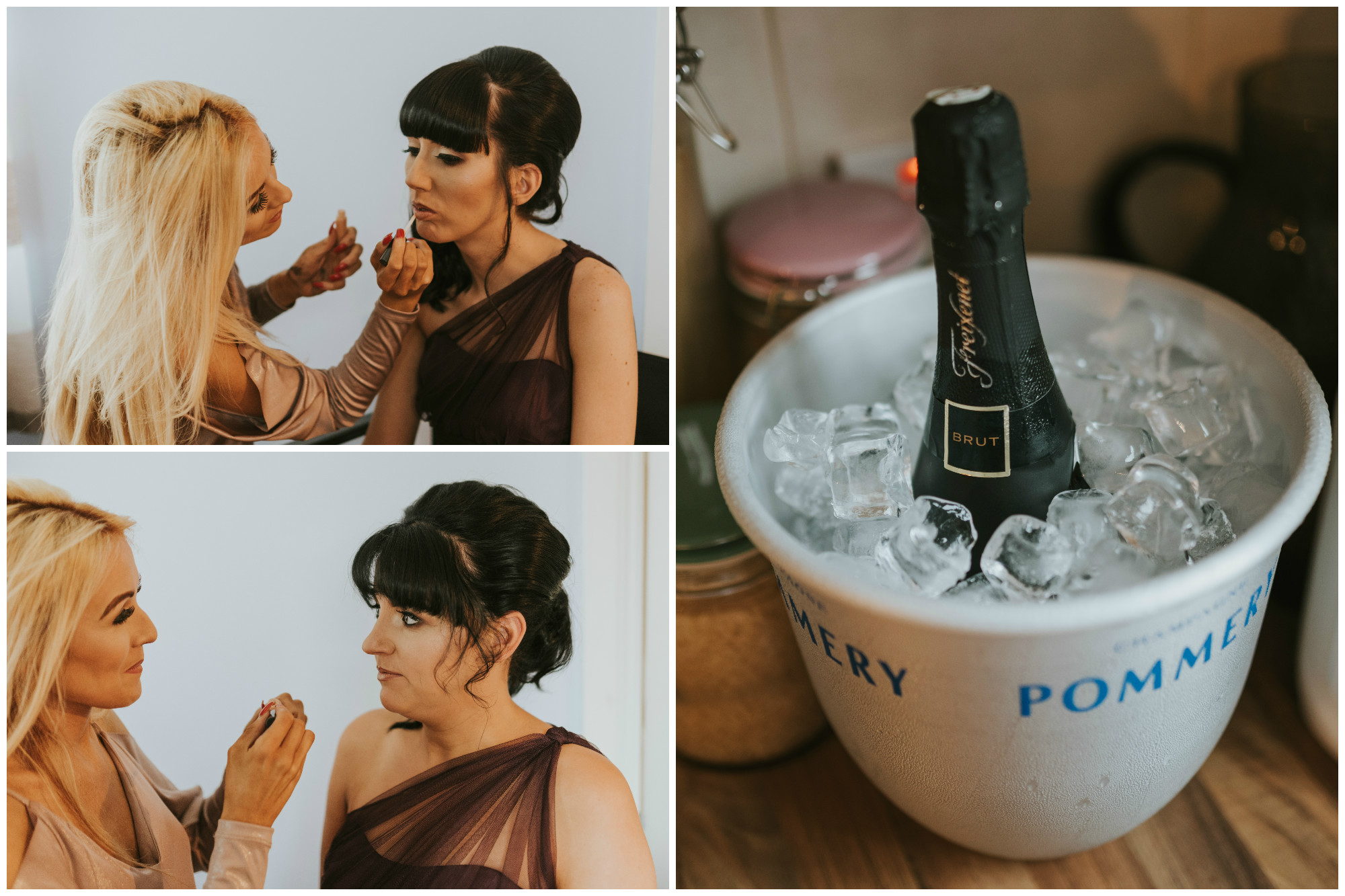 Limavady Wedding Pure Photo N.I make up champagne