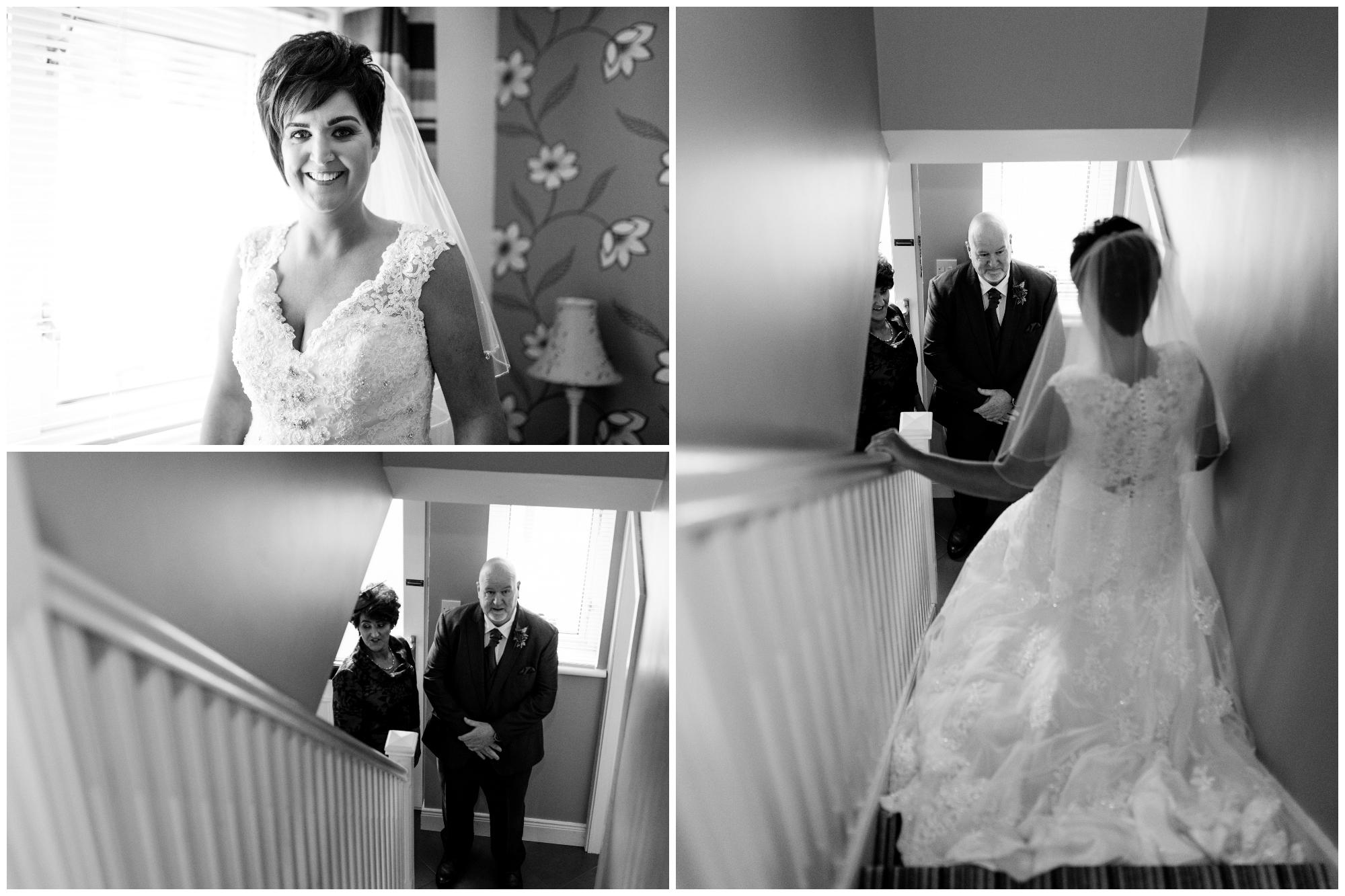 Limavady Wedding Pure Photo N.I bride first look dad mum