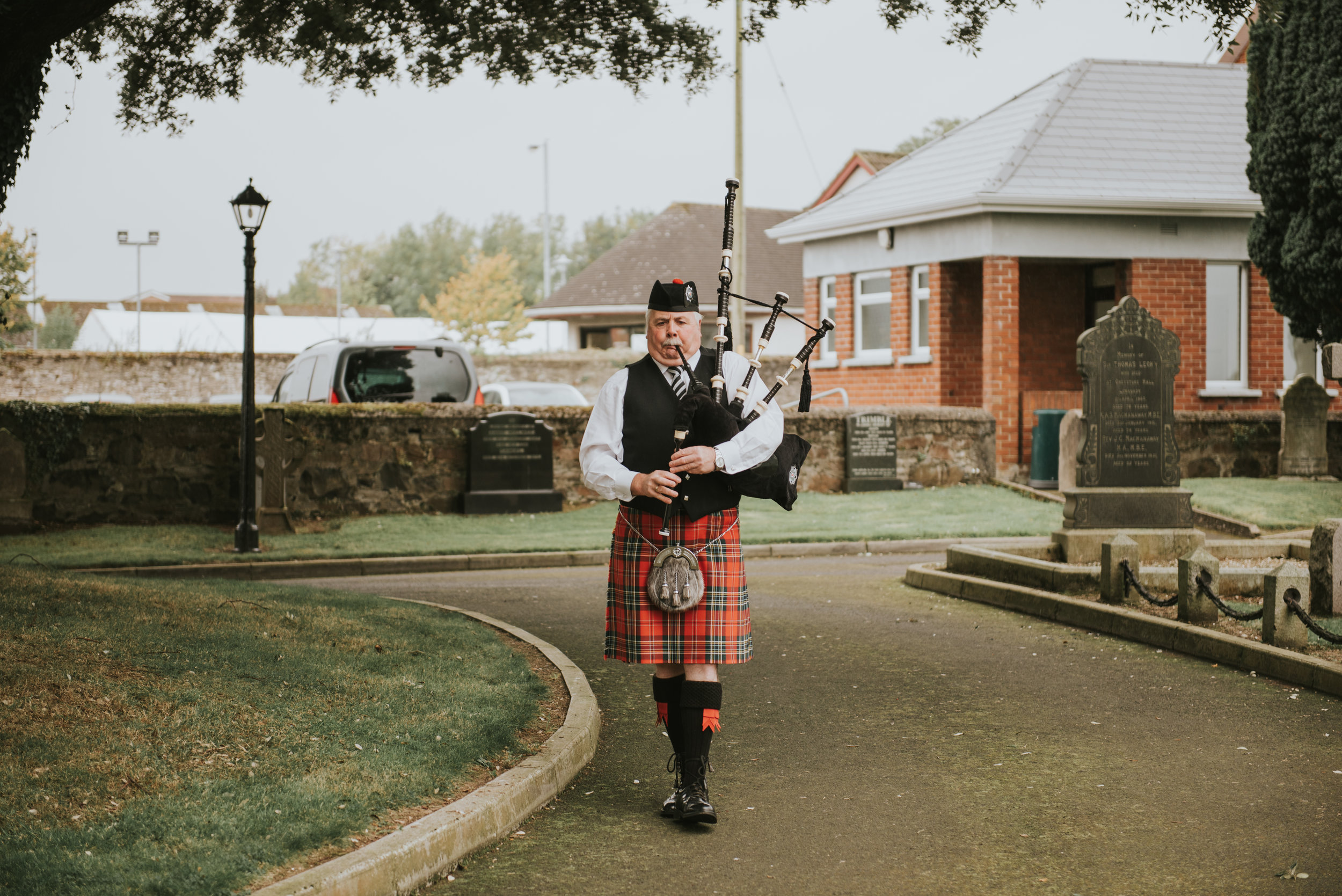 Christ Church Limavady wedding photographer Pure Photo N.I piper