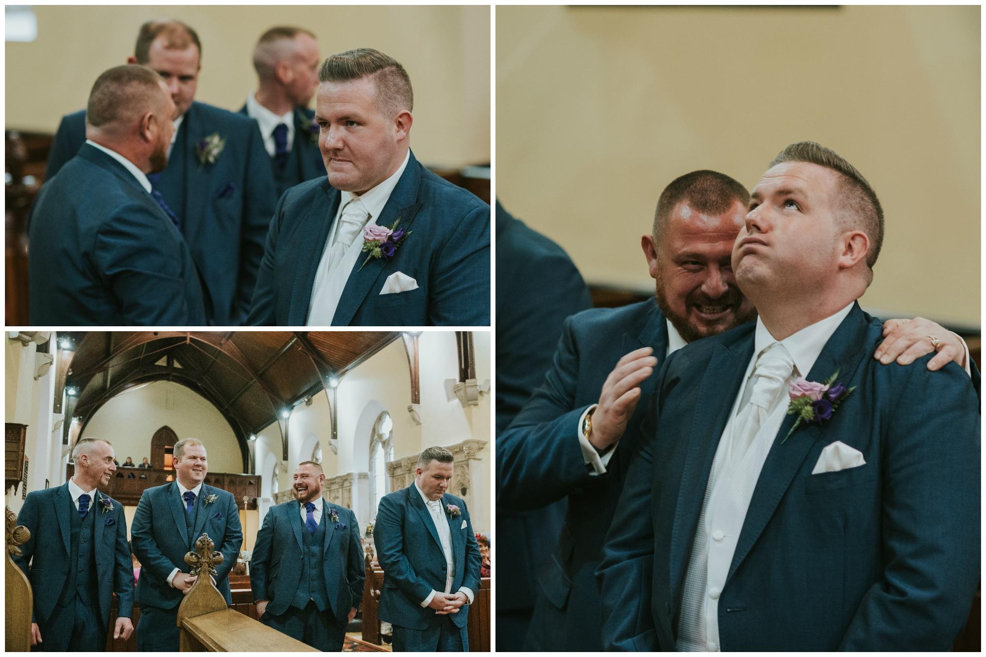 Christ Church Limavady wedding photographer Pure Photo N.I nervous groom