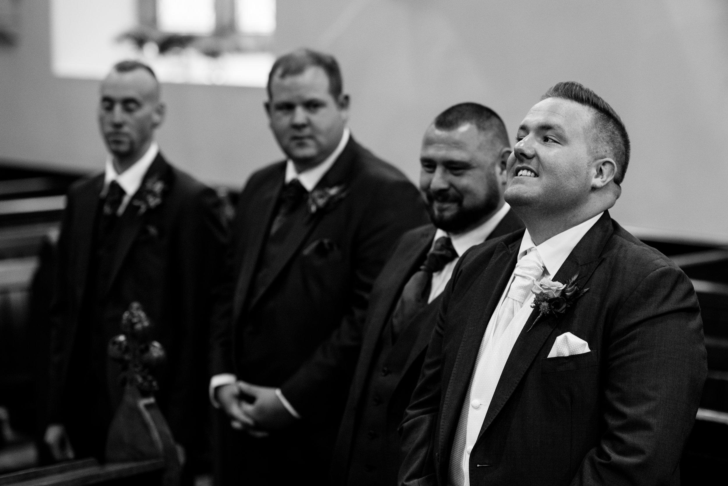 Christ Church Limavady wedding photographer Pure Photo N.I groom nerves