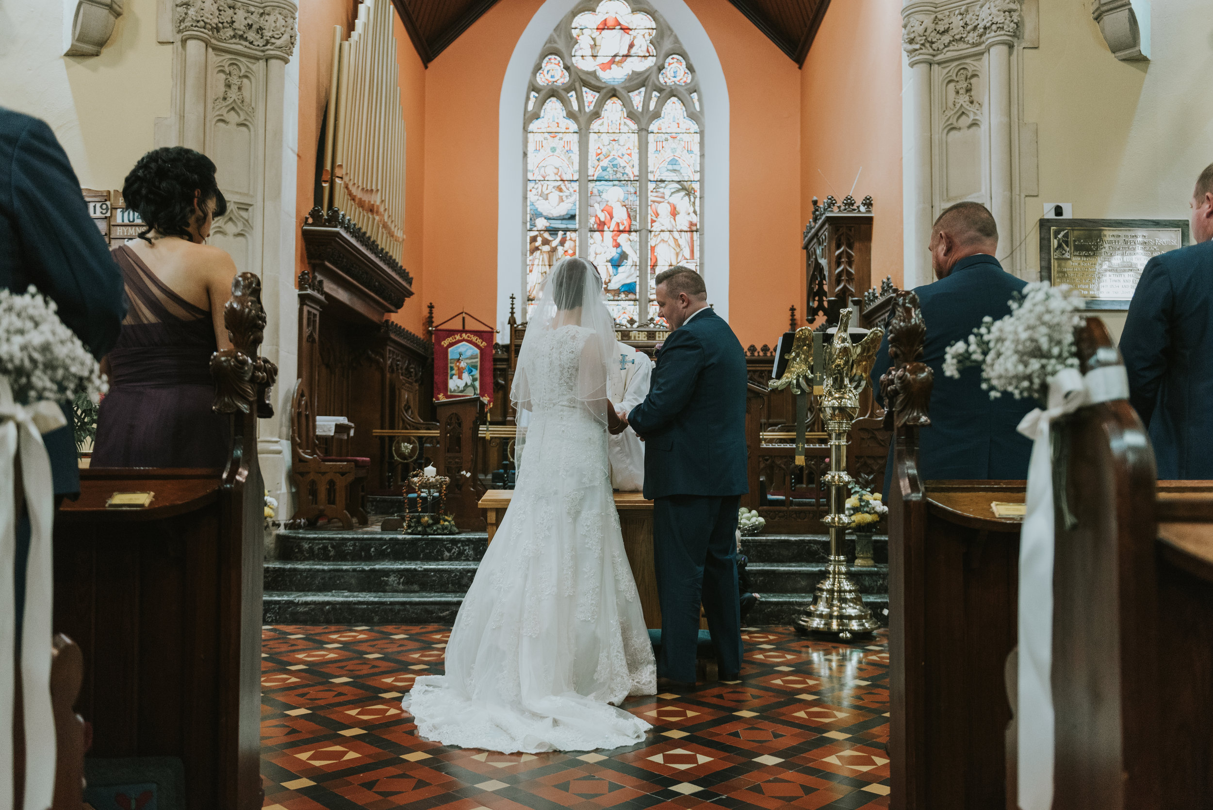 Christ Church Limavady wedding photographer Pure Photo N.I rings