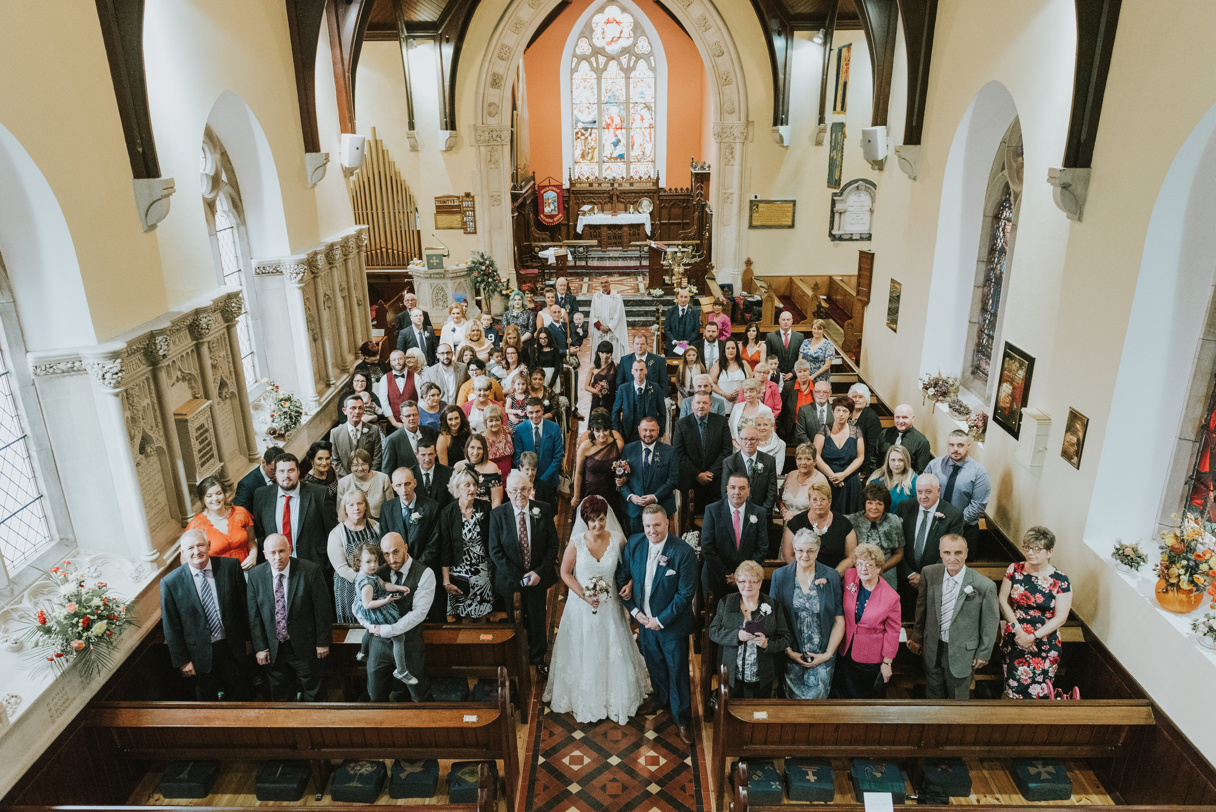 Christ Church Limavady wedding photographer Pure Photo N.I recessional