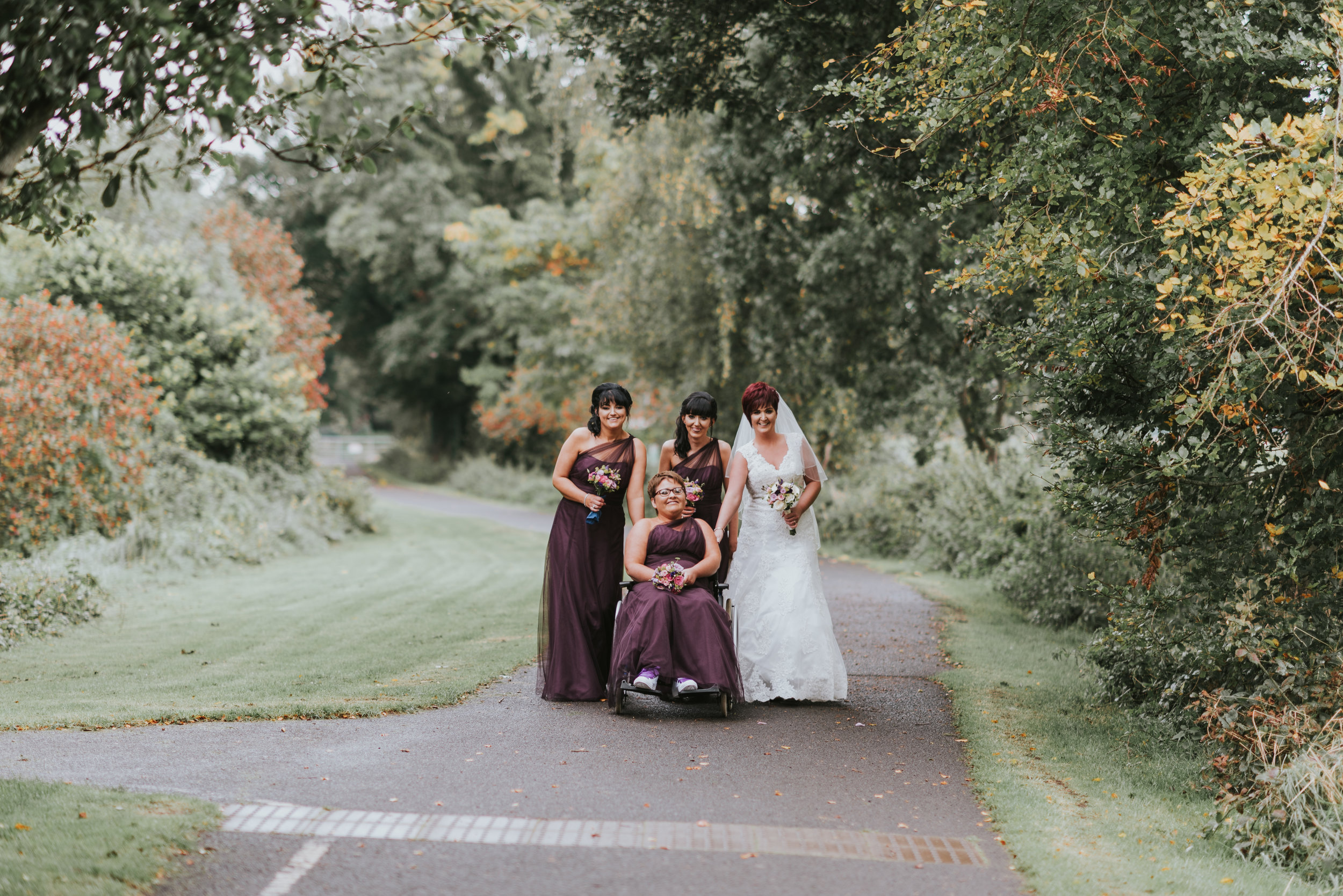 Roe Park Wedding Photographer Pure Photo N.I bride and bridesmaids