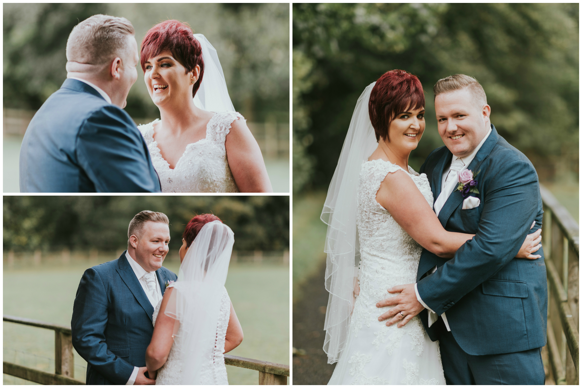 Roe Park Wedding Photographer Pure Photo N.I portrait bride and groom