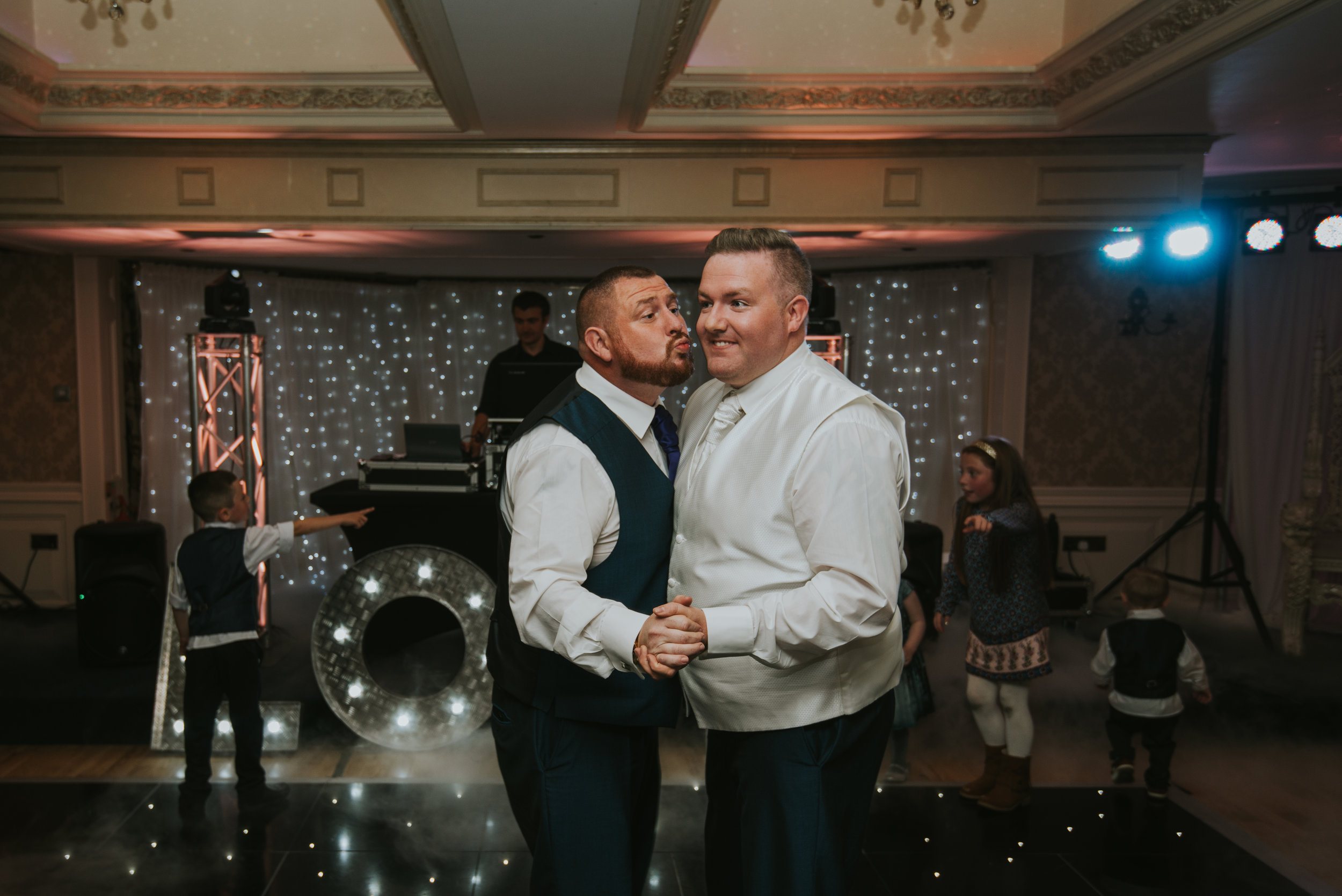 Bushtown Hotel Wedding Photographer Pure Photo N.I first dance groom best man