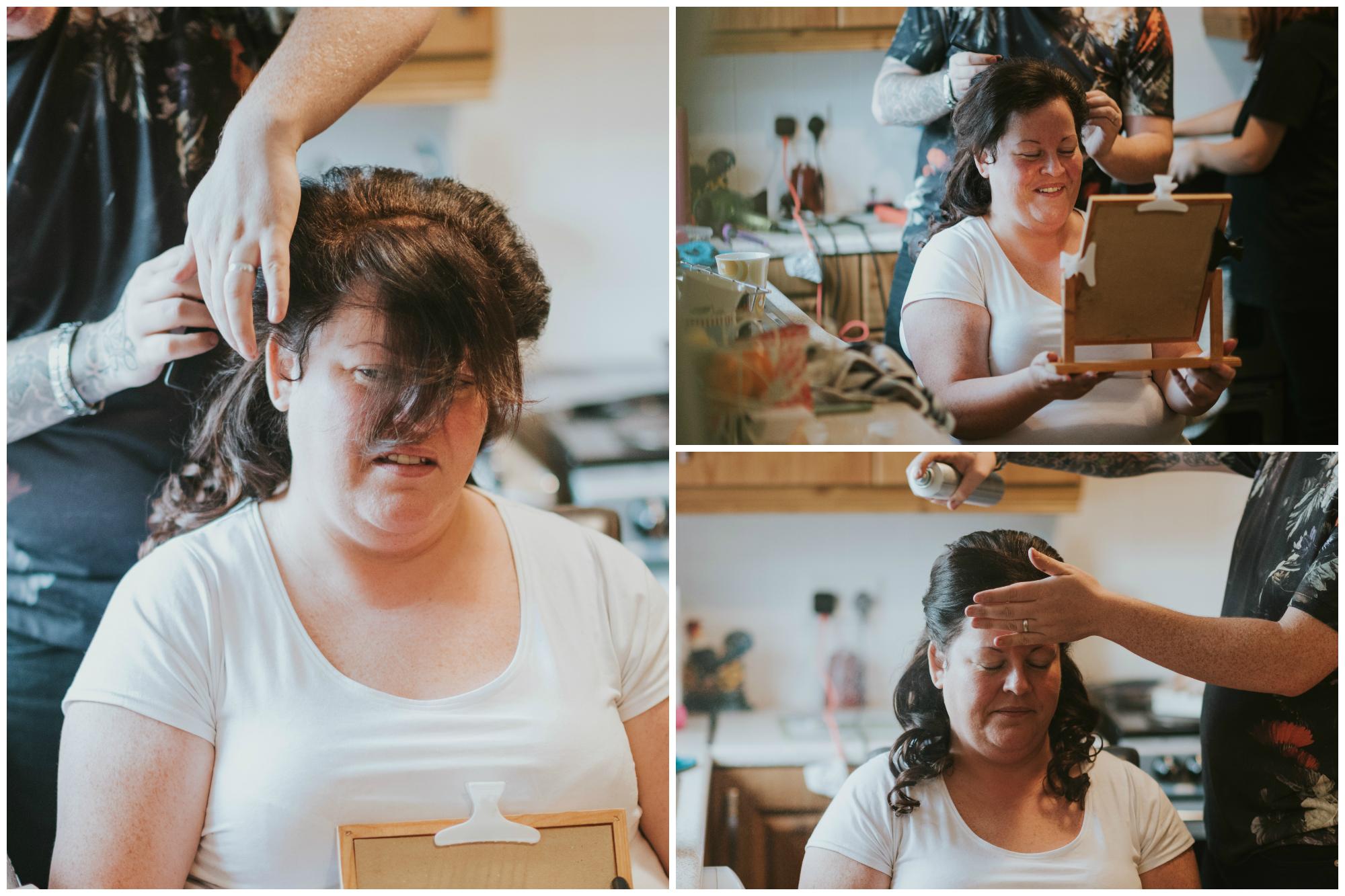 belfast wedding photographer pure photo n.i bride hairstyling