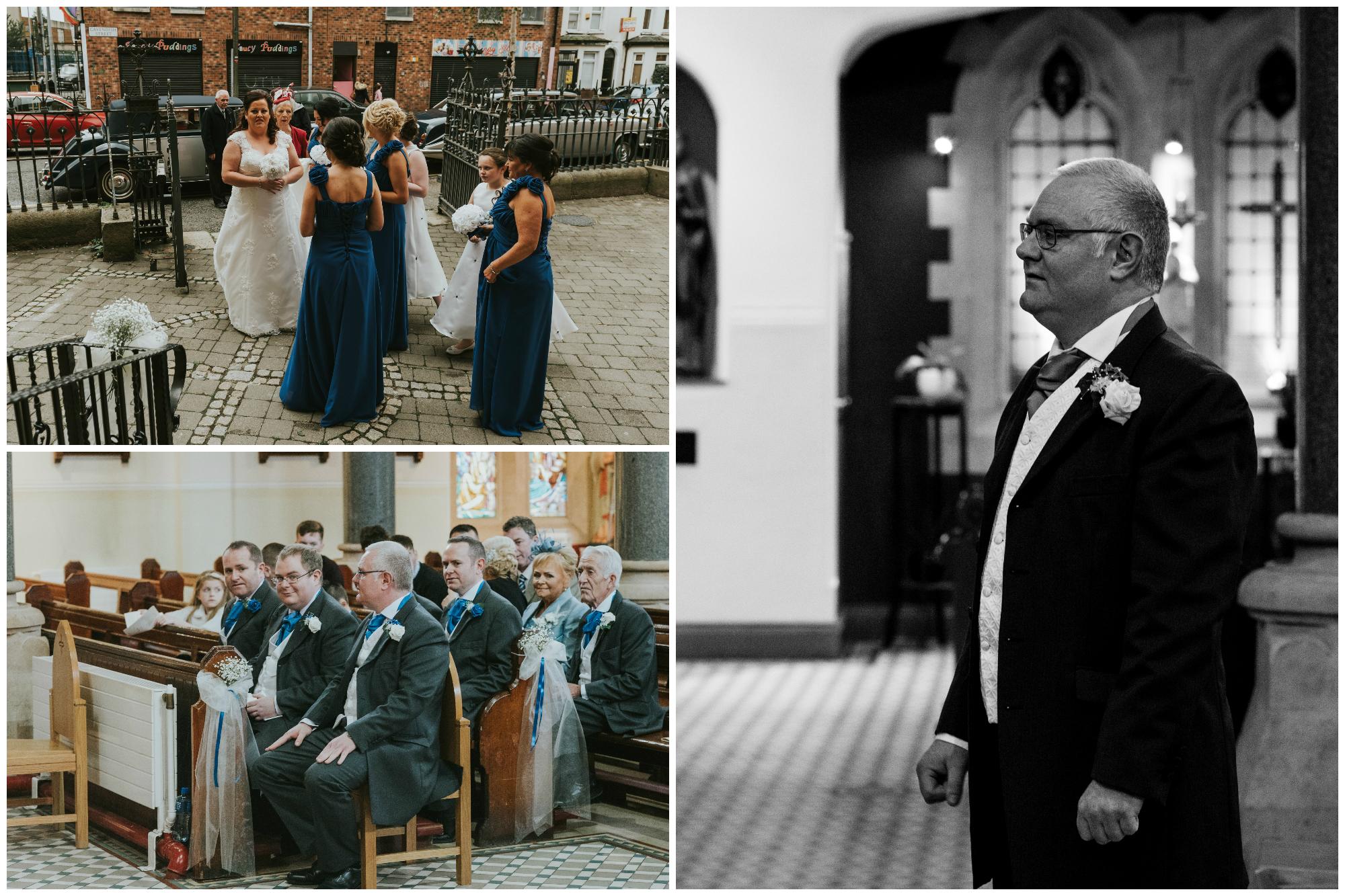 St. Pauls belfast wedding photographer pure photo n.i waiting groom