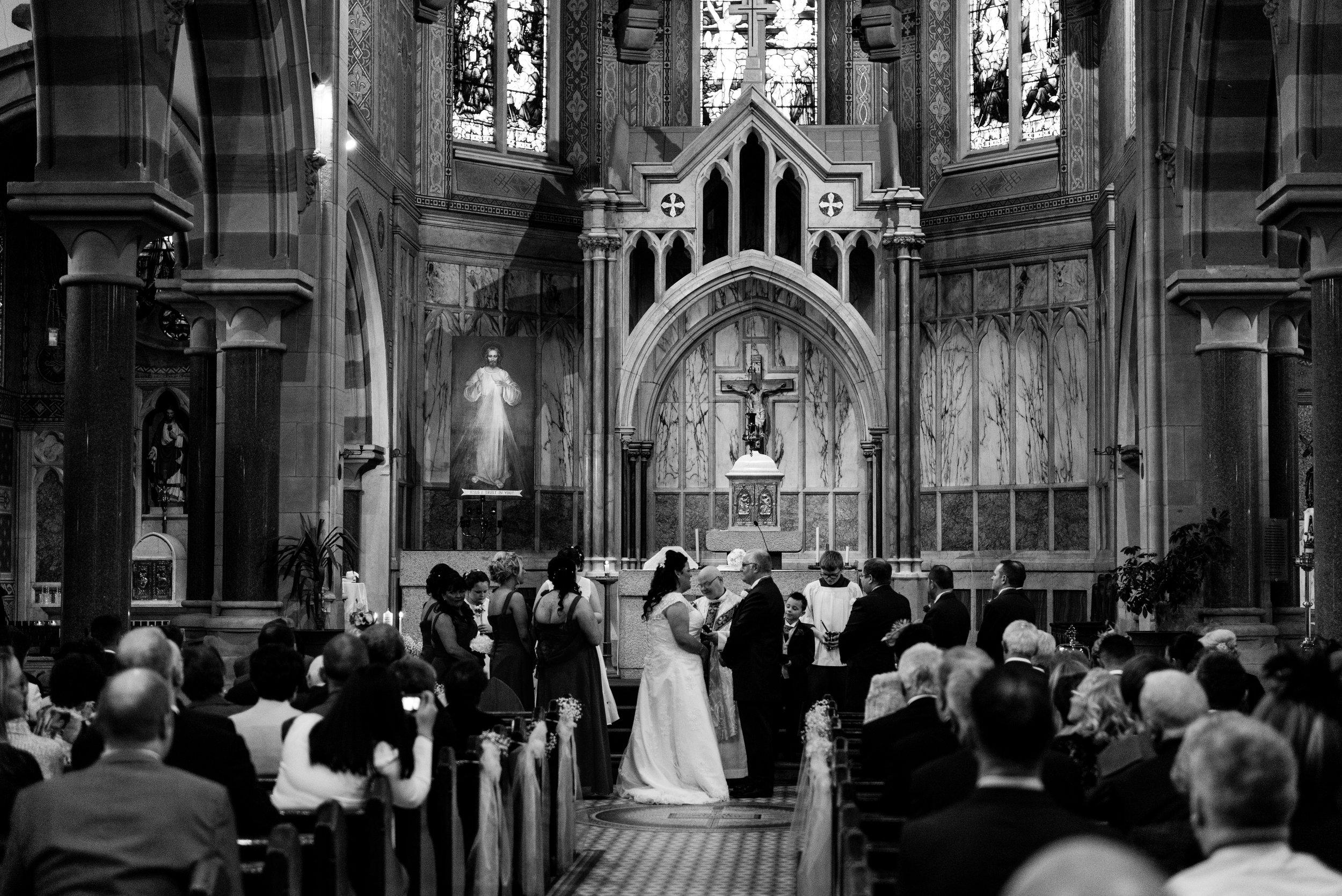 St. Pauls belfast wedding photographer pure photo n.i ceremony start