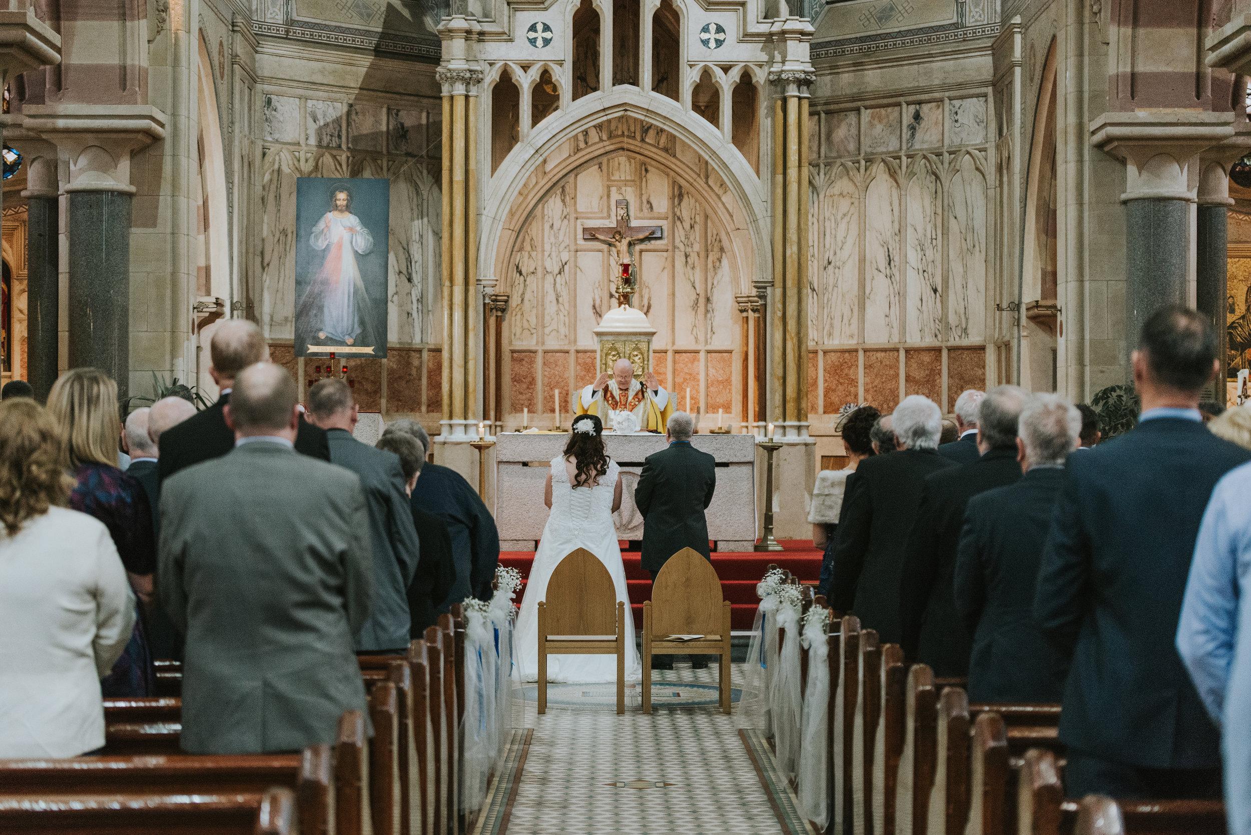 St. Pauls belfast wedding photographer pure photo n.i end of ceremony